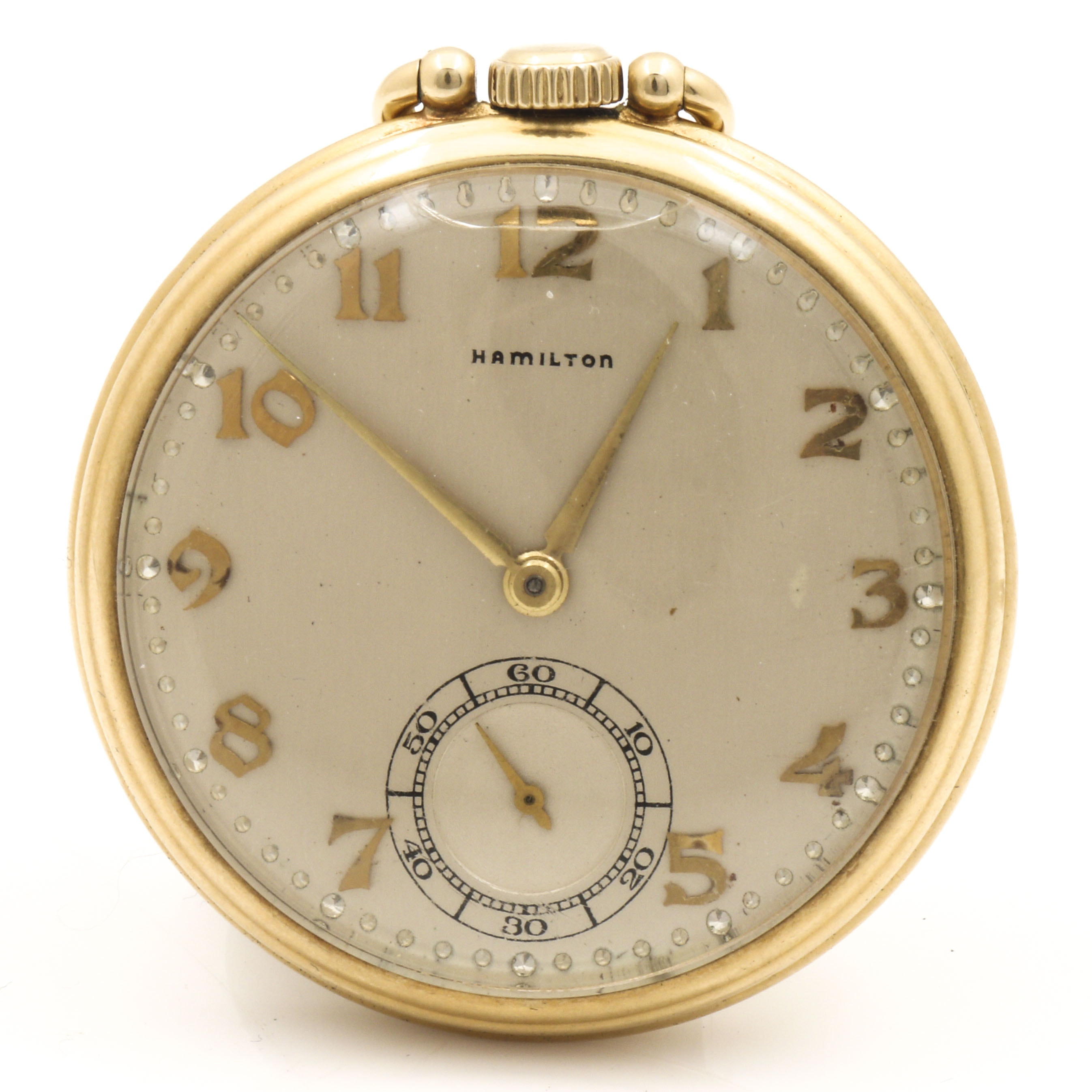 Vintage Hamilton 14K Yellow Gold Pocket Watch
