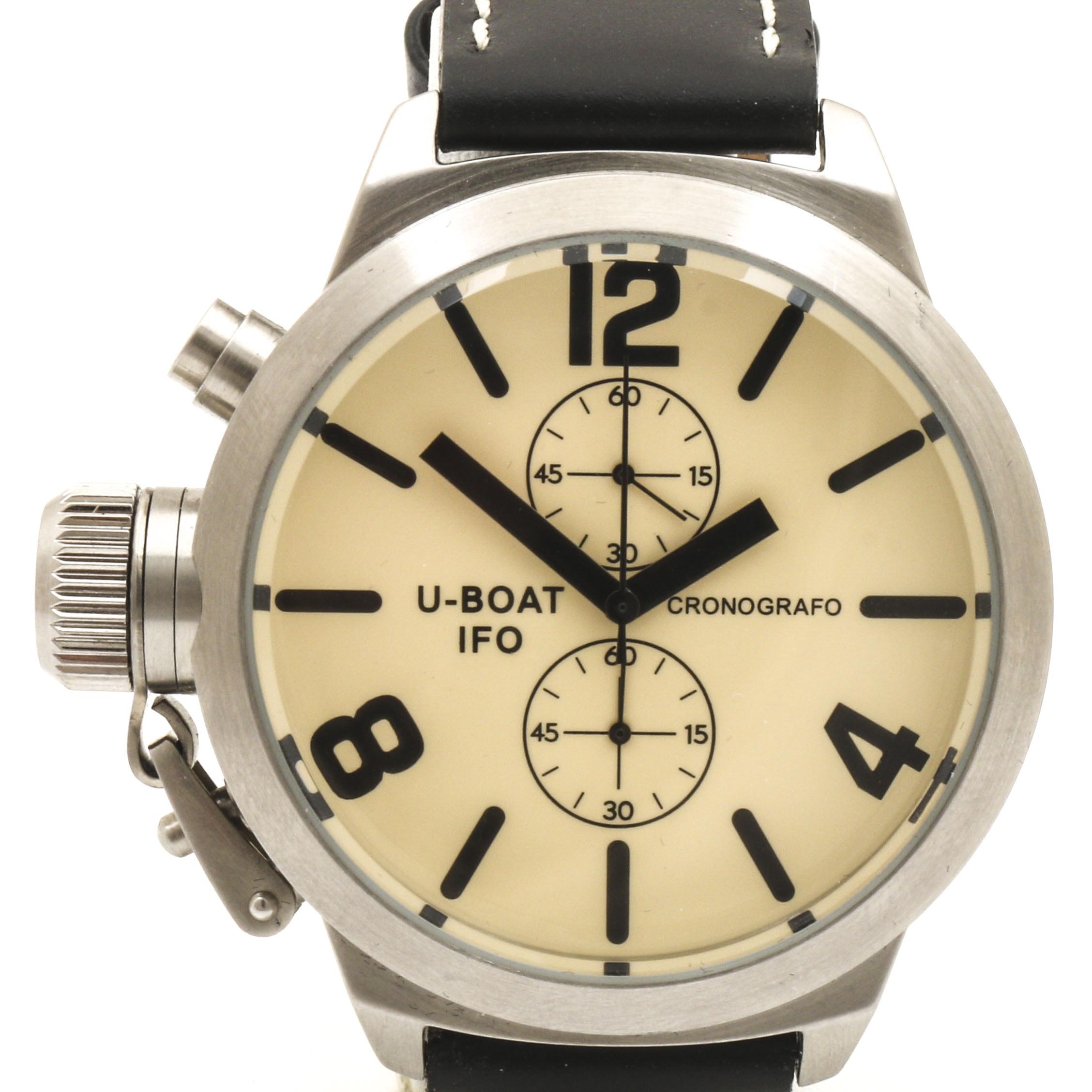 U - Boat IFO Leather Band Wristwatch
