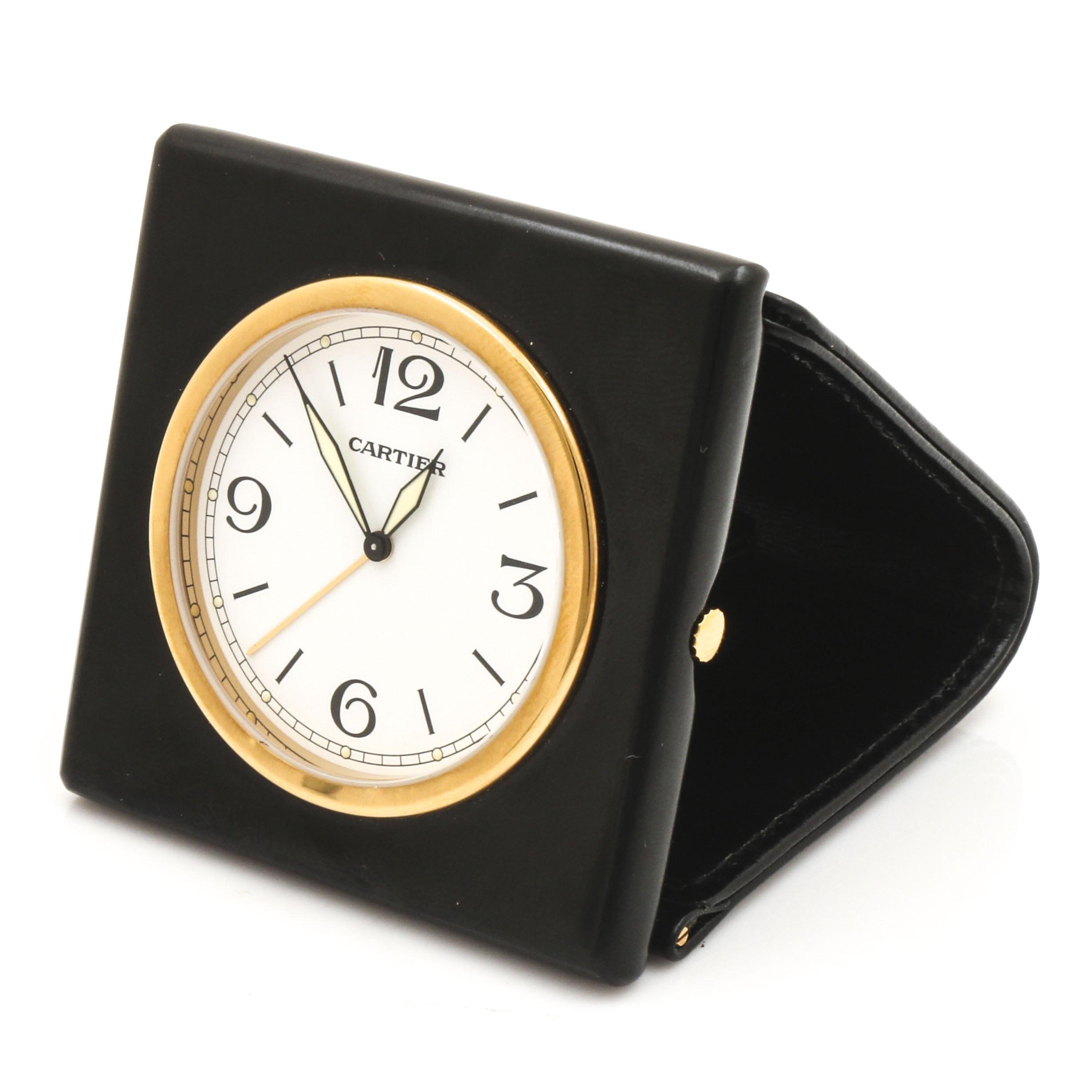 Cartier Travel Analog Alarm Clock