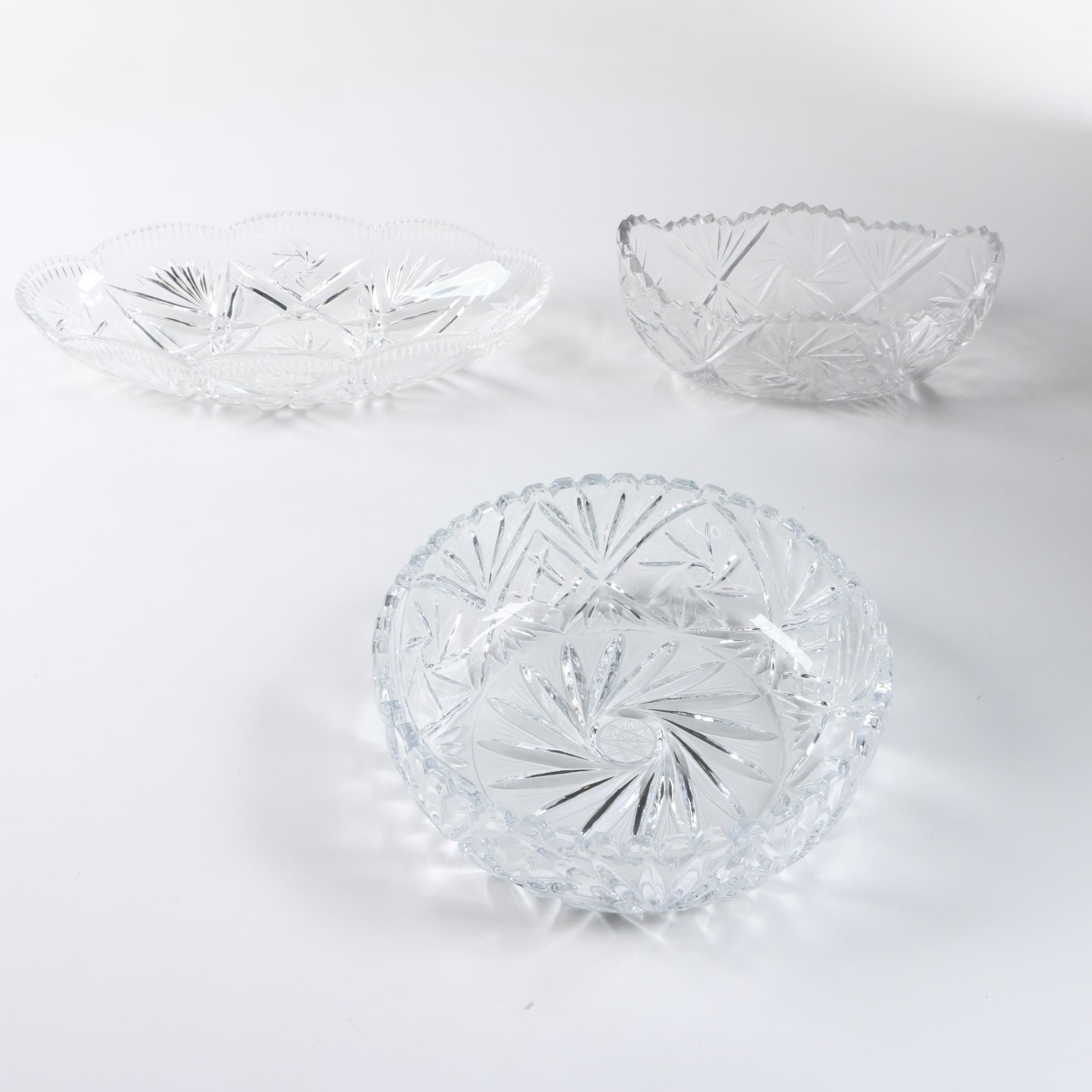 Collection of Crystal Dishes