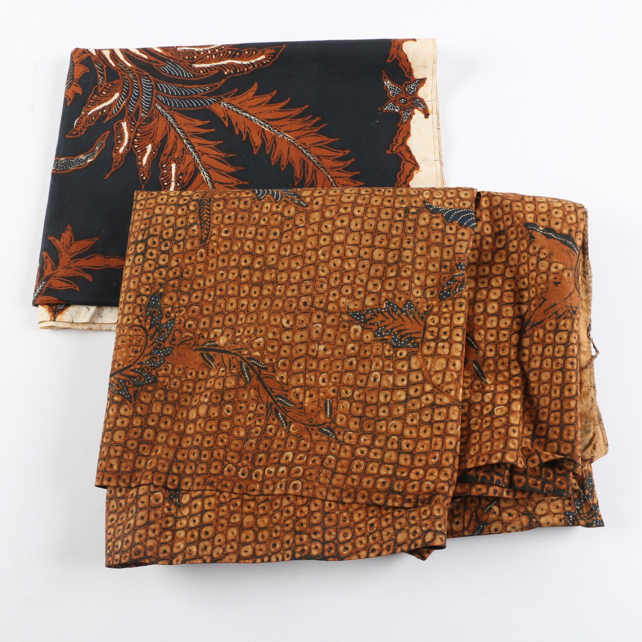Pair of Vintage Indonesian Batiks