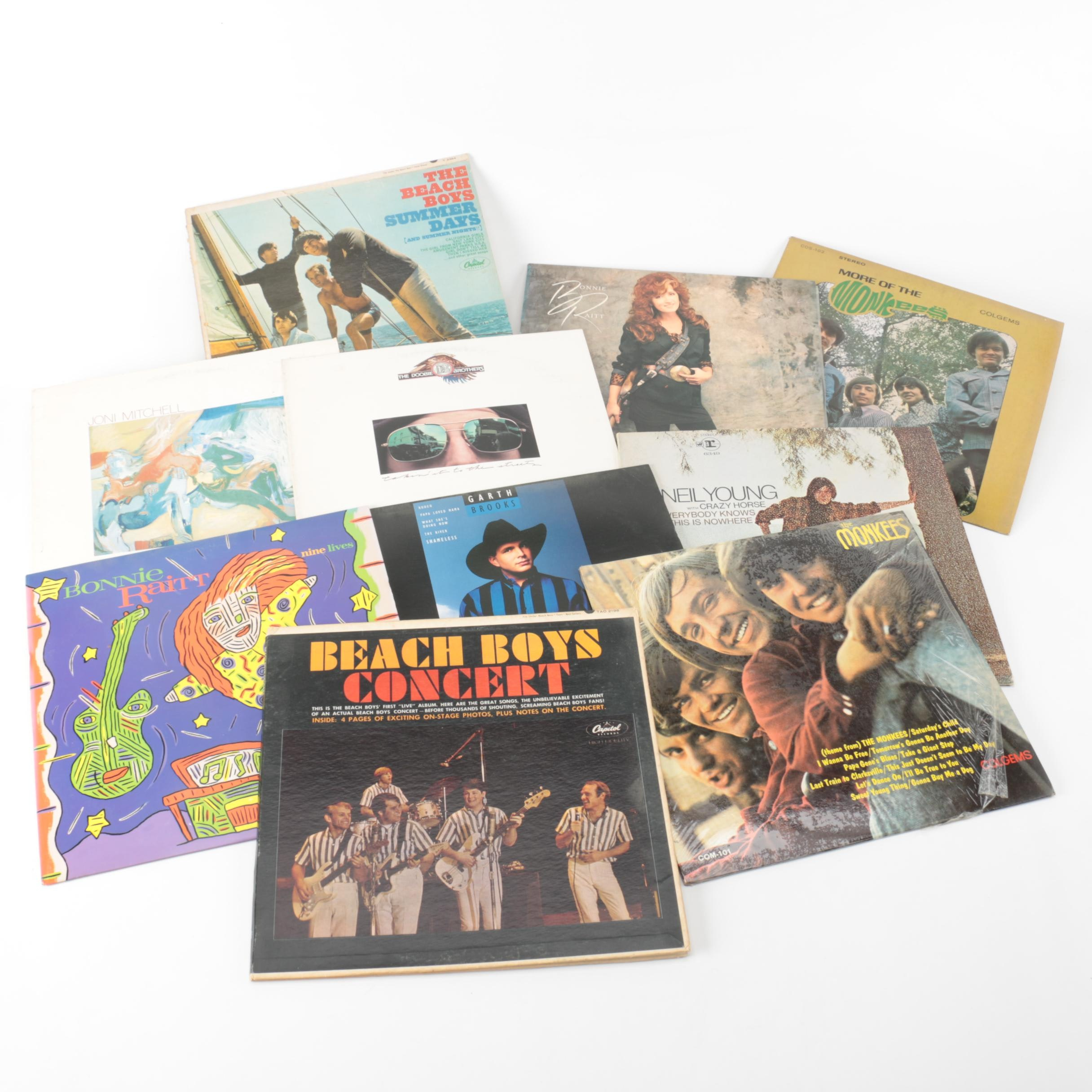 Beach Boys, Monkees, Garth Brooks and Other Rock and Country LPs