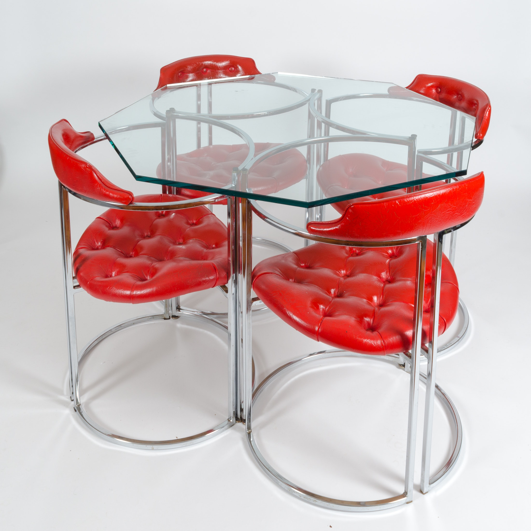Vintage Mid Century Modern Occasional Table with Chairs