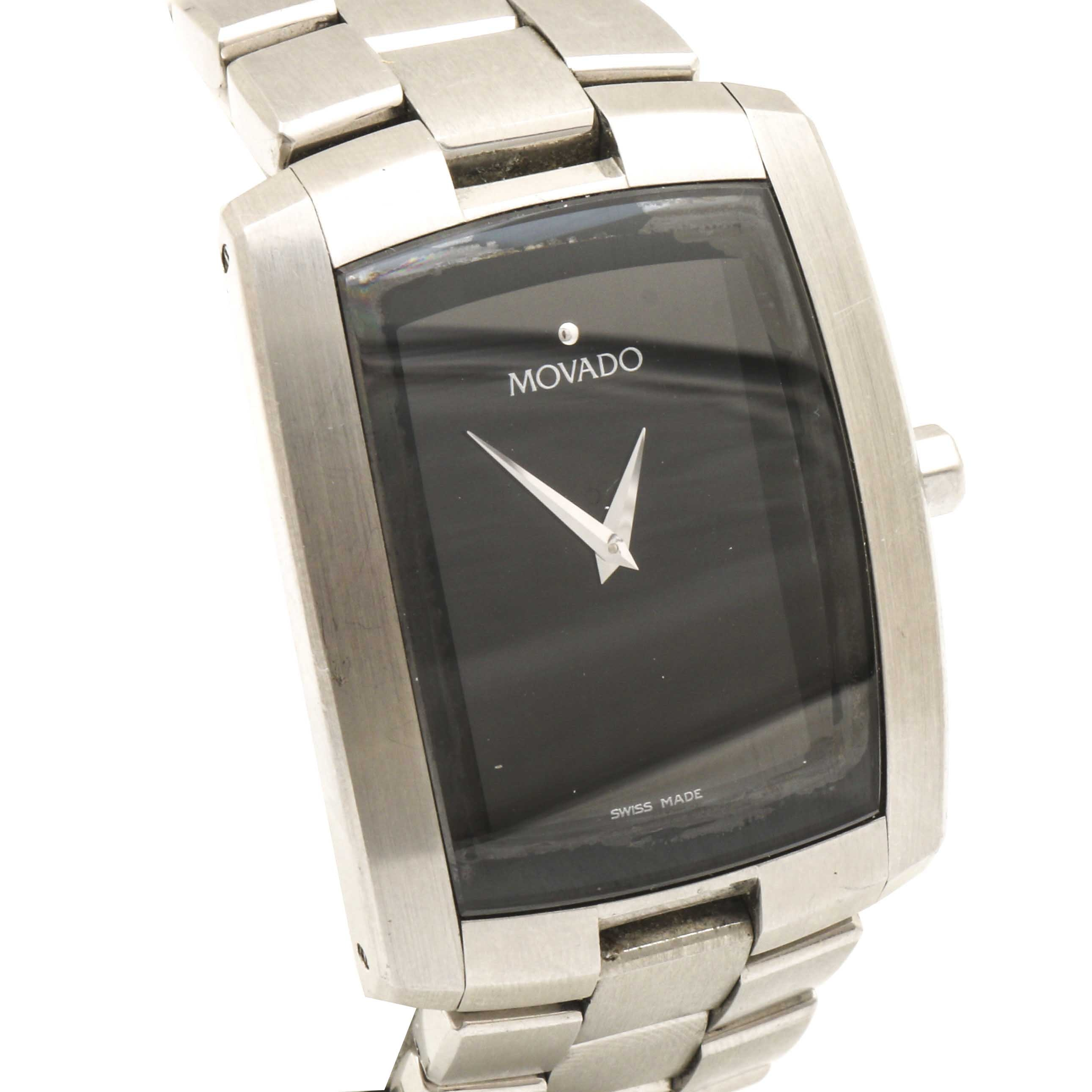 Movado Stainless Steel Swiss Made Wristwatch