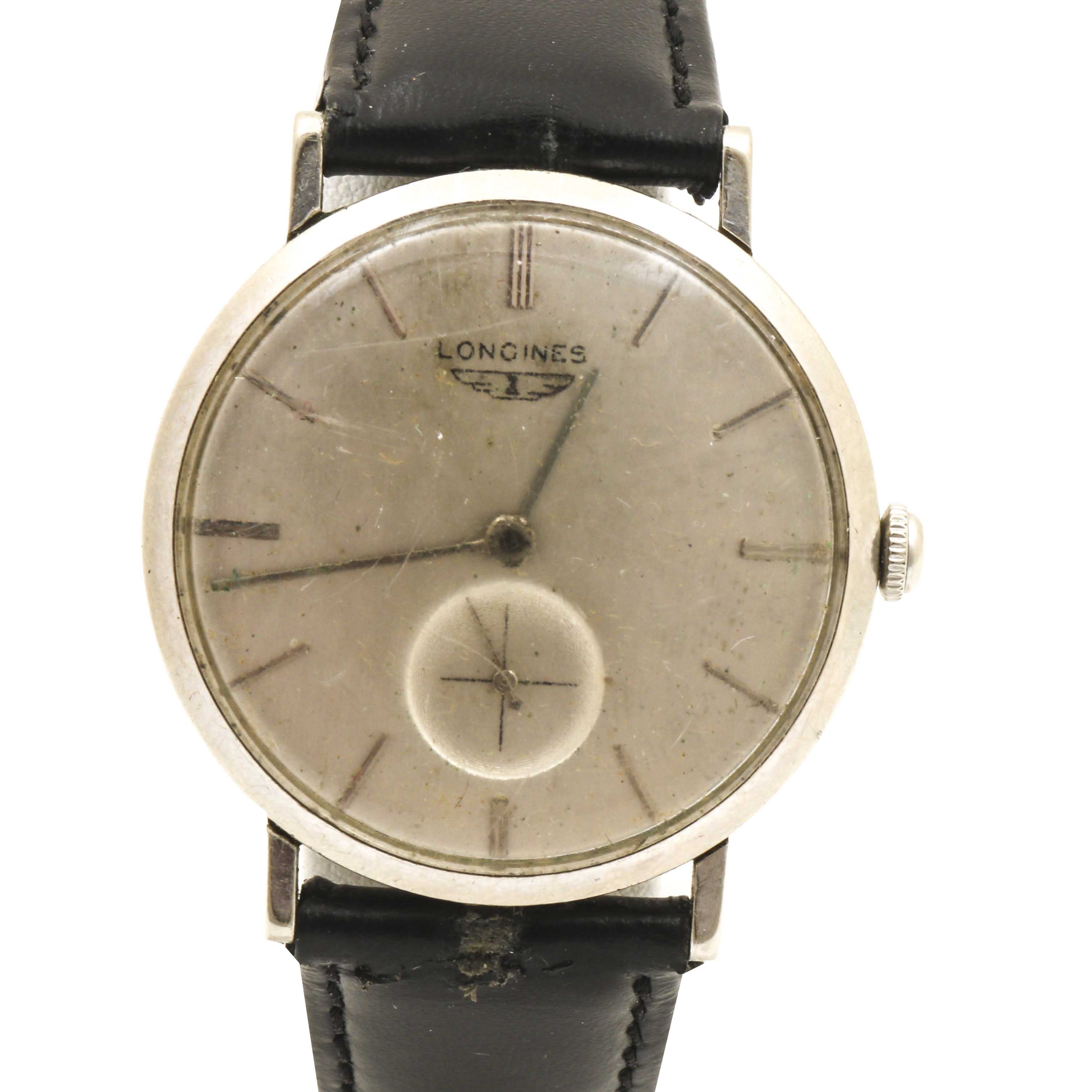 Longines 10K White Gold Filled Wristwatch