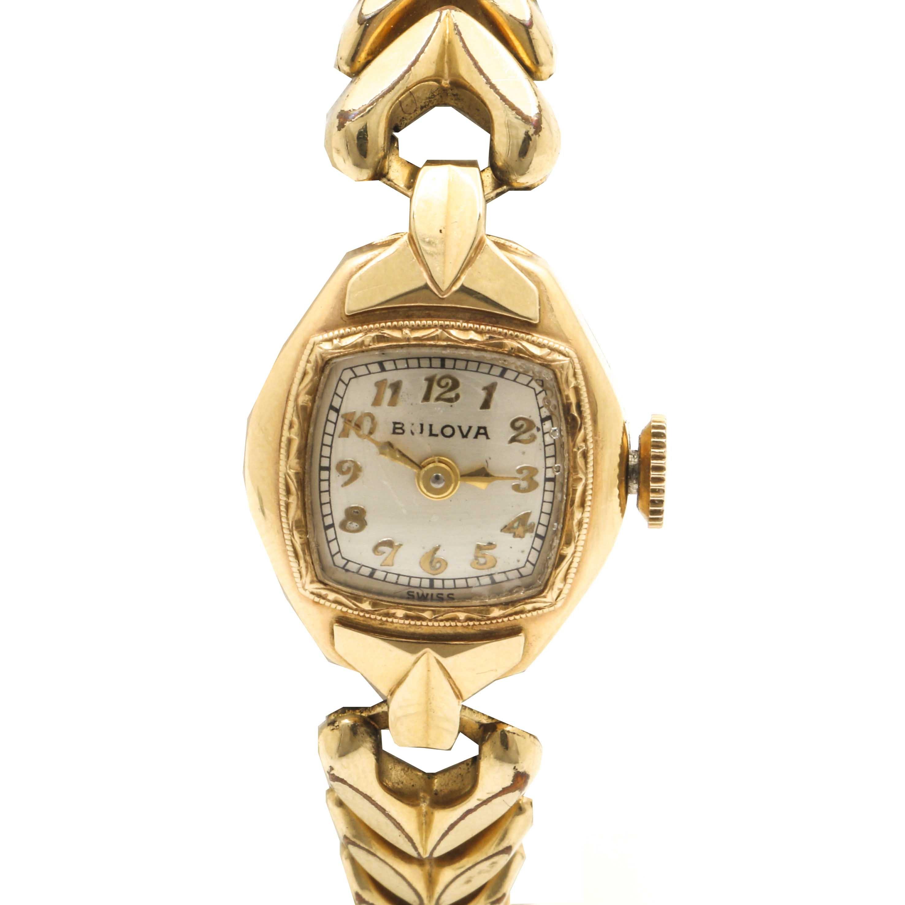 Bulova 14K Yellow Gold Wristwatch