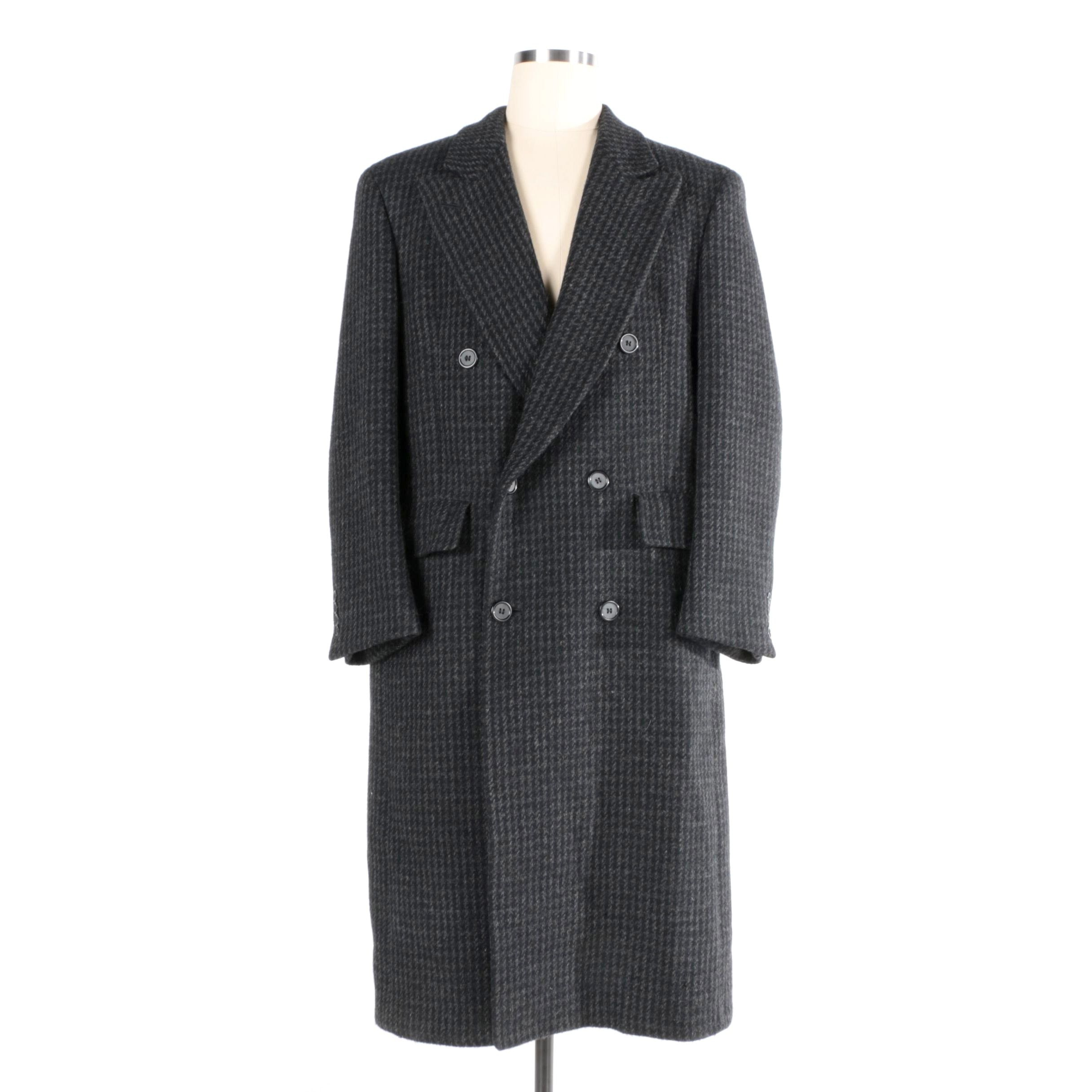 Men's Christian Dior Monsieur Sport Houndstooth Overcoat