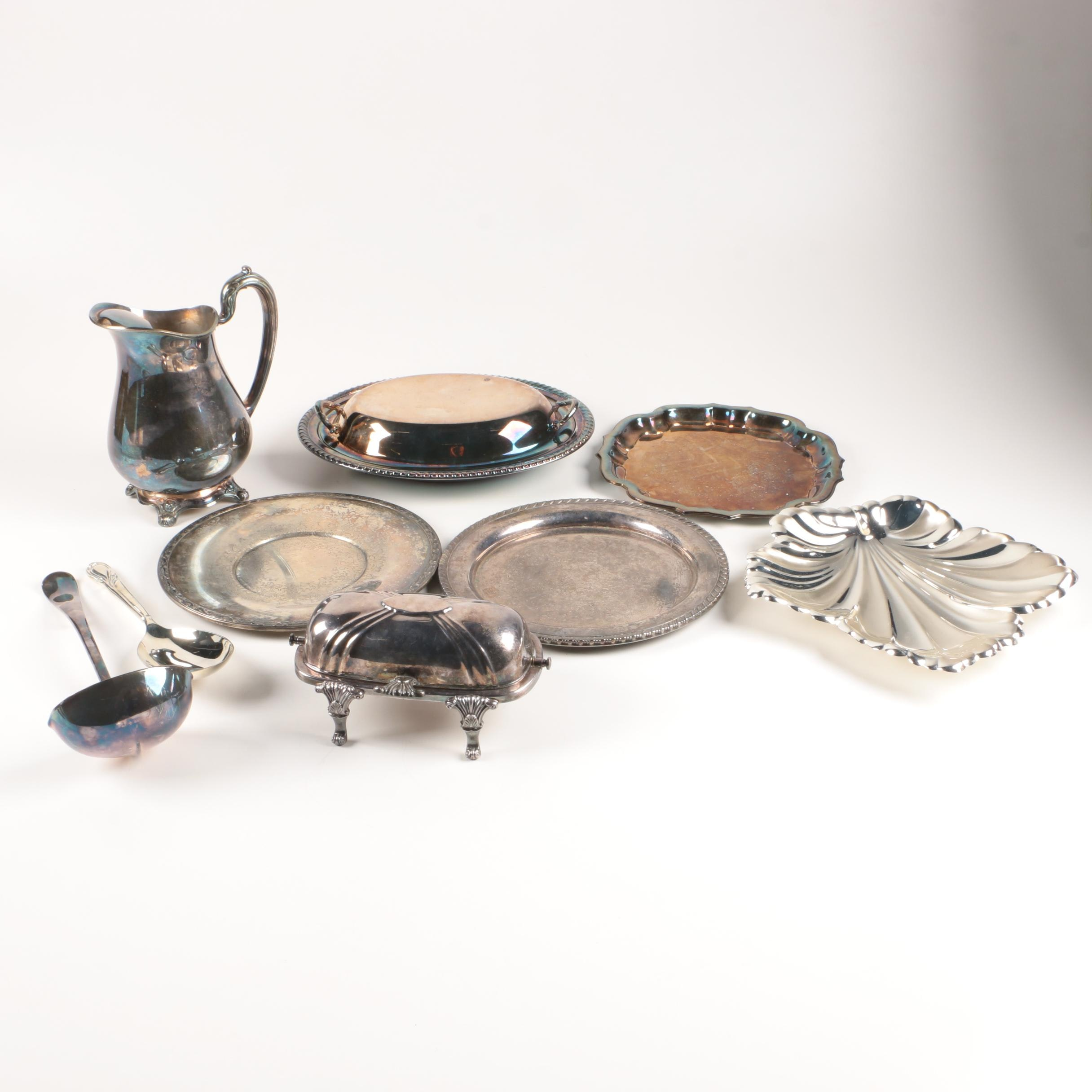 """1881 Rogers """"Glenrose"""" Silver Plate Water Pitcher and Assorted Serveware"""