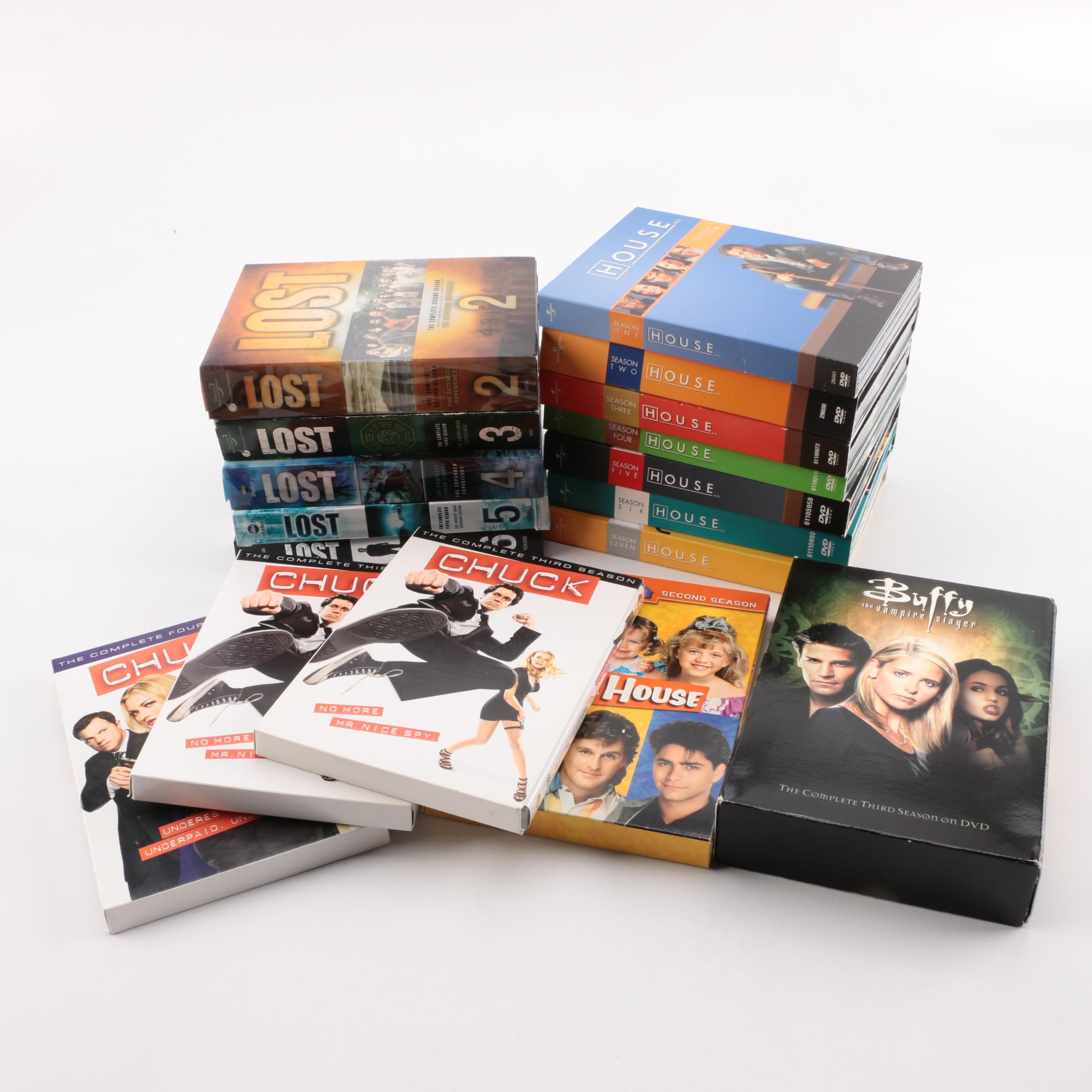 """House"", ""Lost"", ""Buffy"" and Other Television Series DVDs"