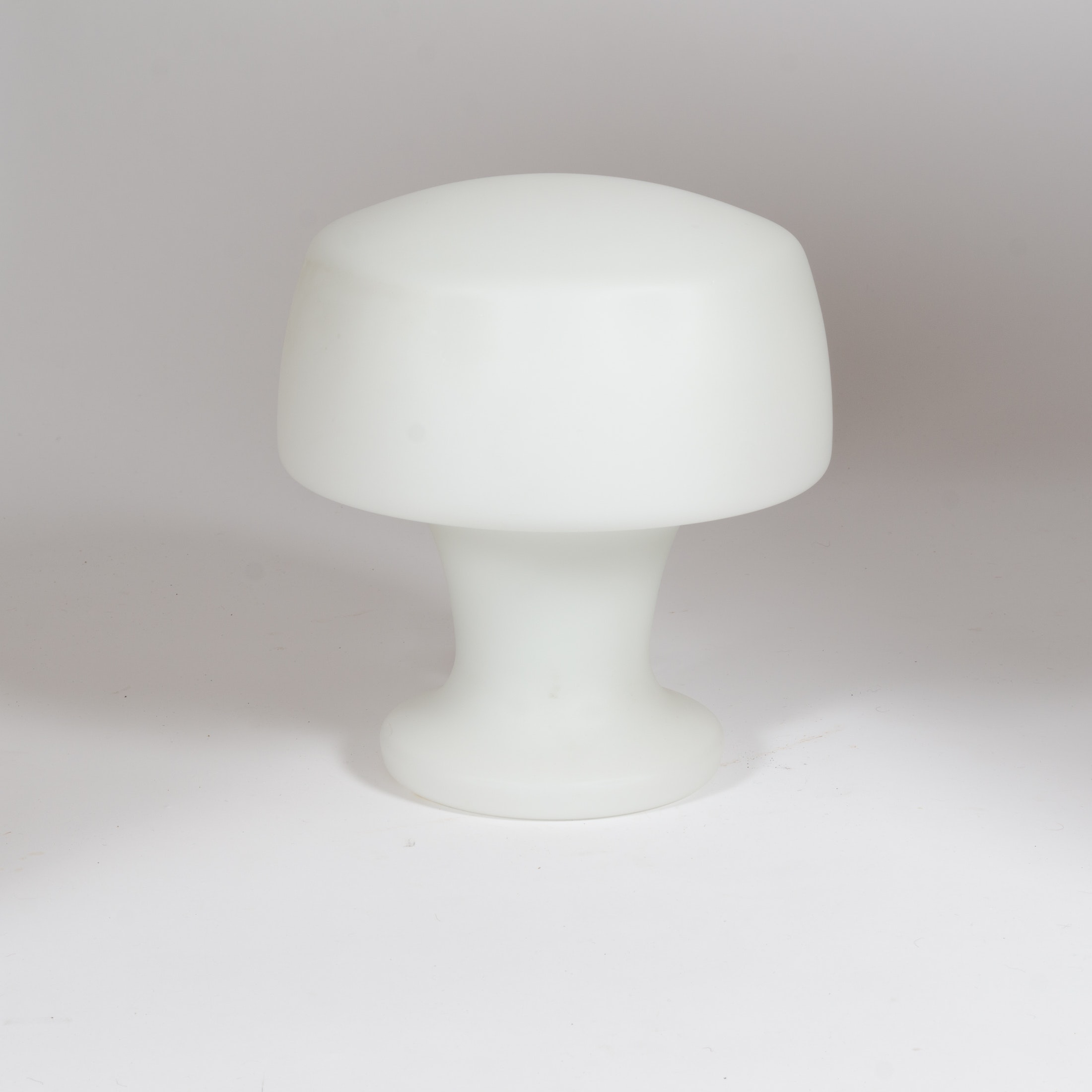 Mid Century Modern Frosted Glass Mushroom Lamp by the Laurel Lamp Co.