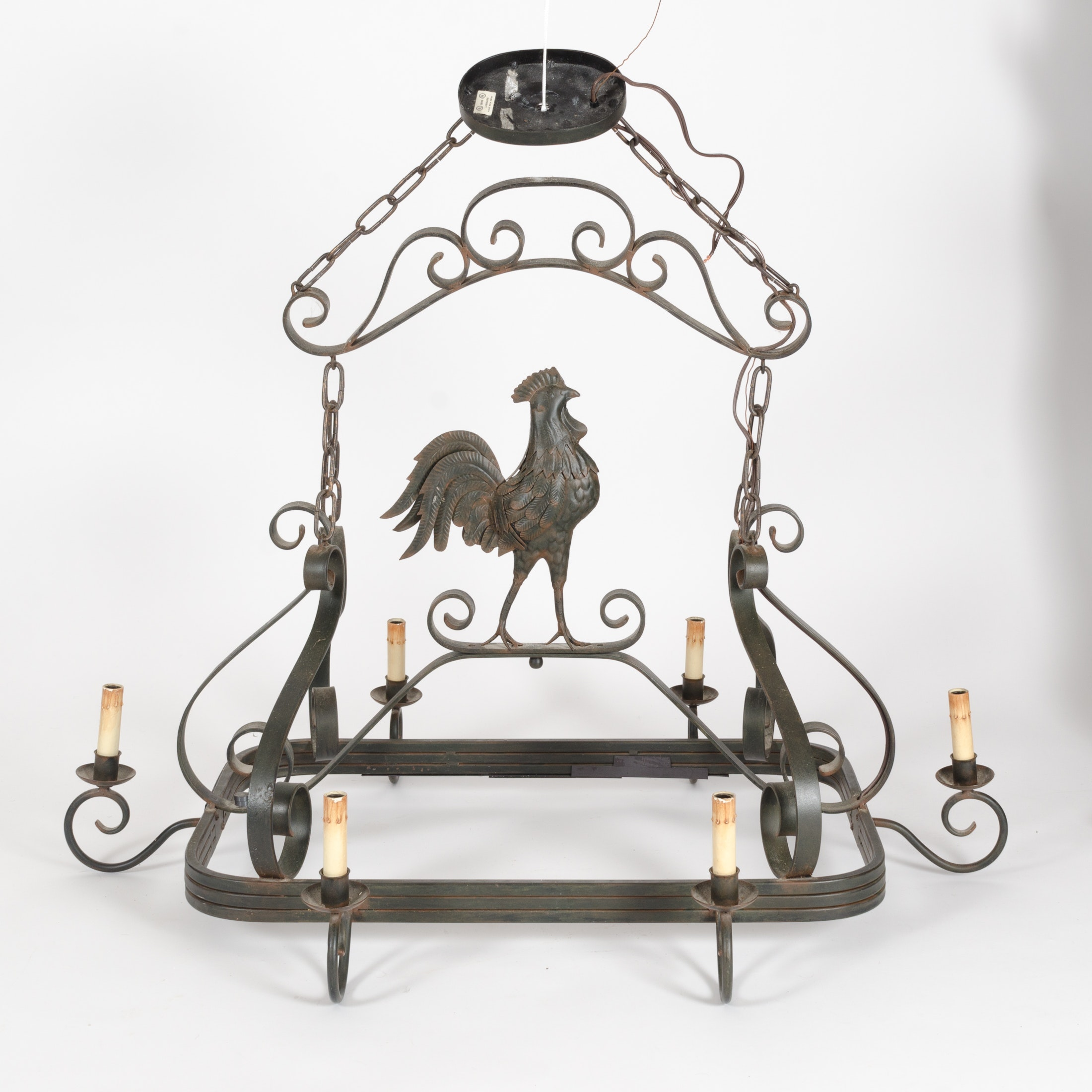 French Country Style Rooster Chandelier