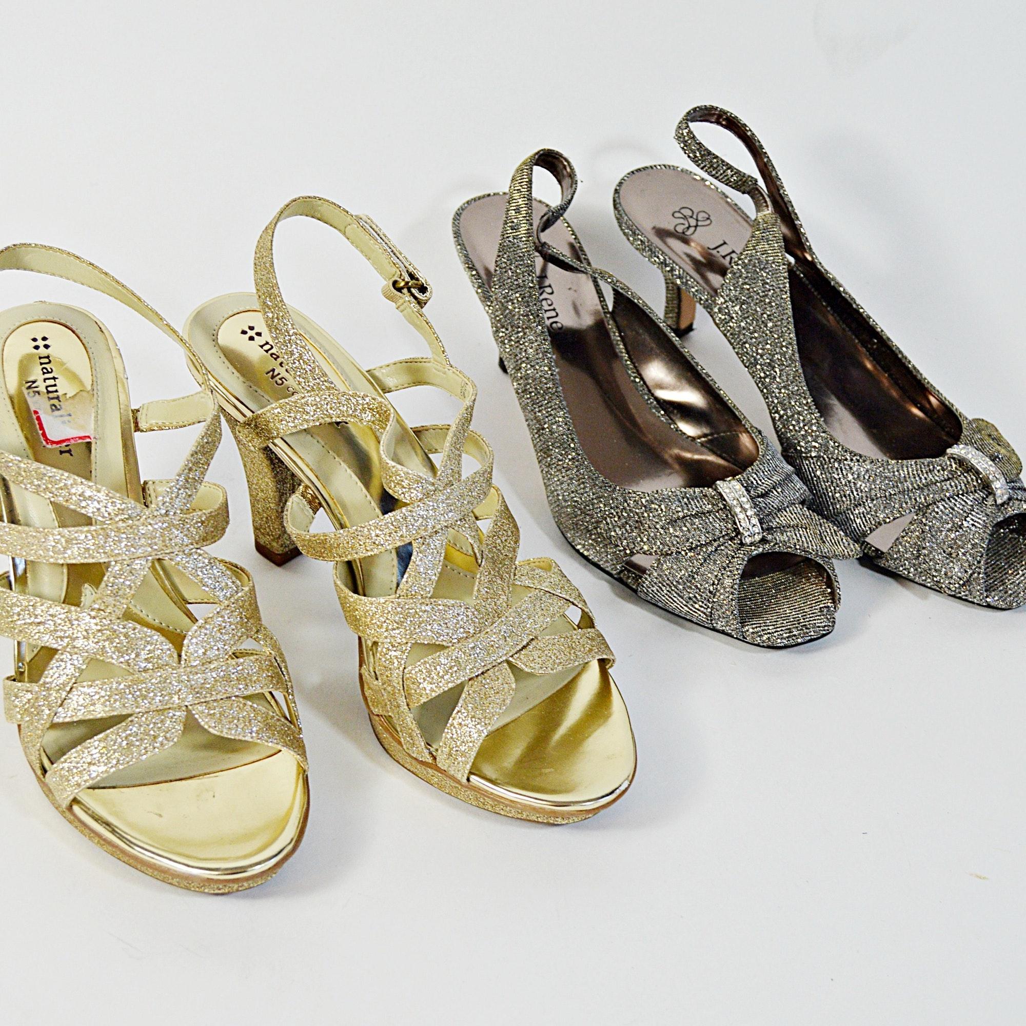 Naturalizer and J. Renee Sandal Heels, 8M