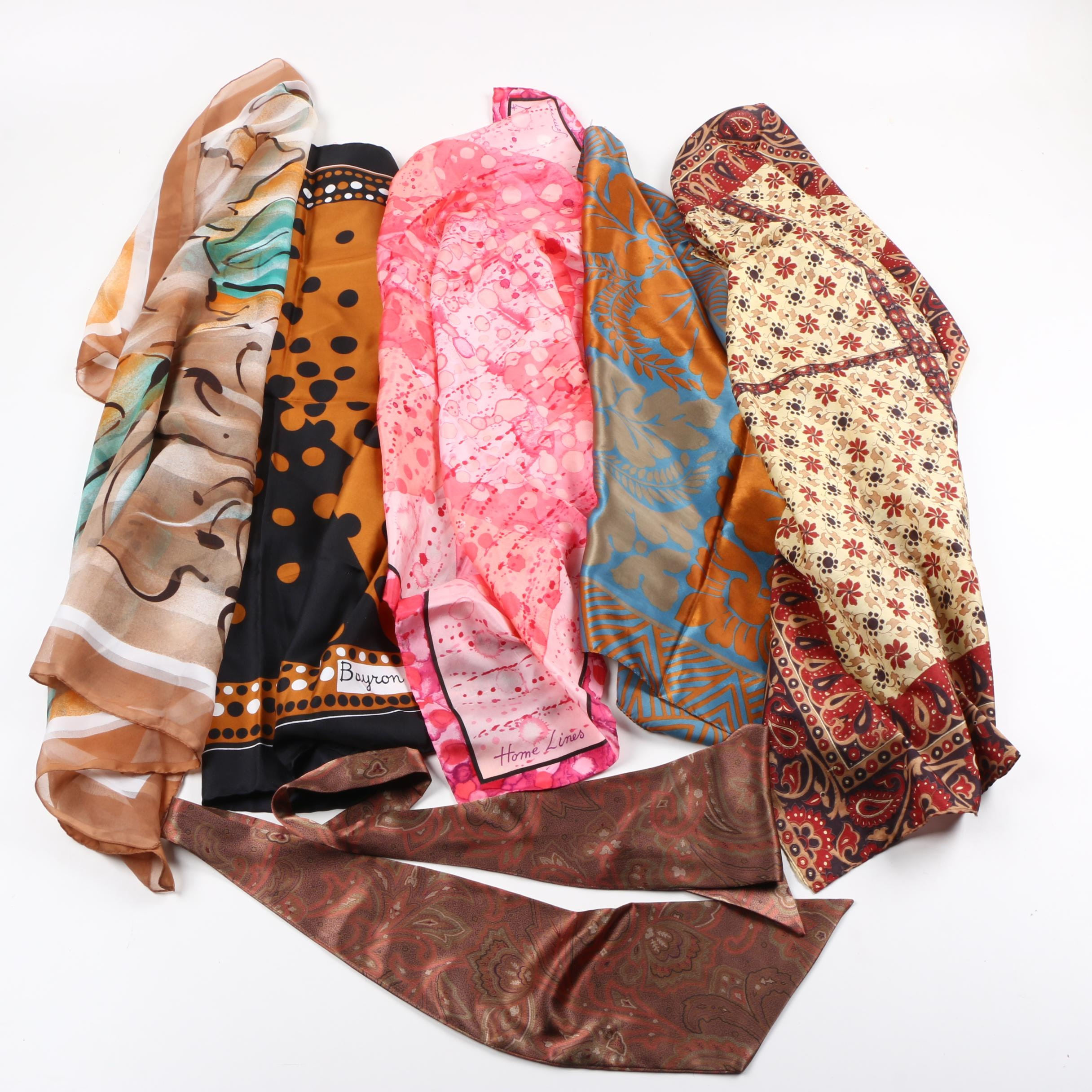 Scarves Including Home Lines and Bayron