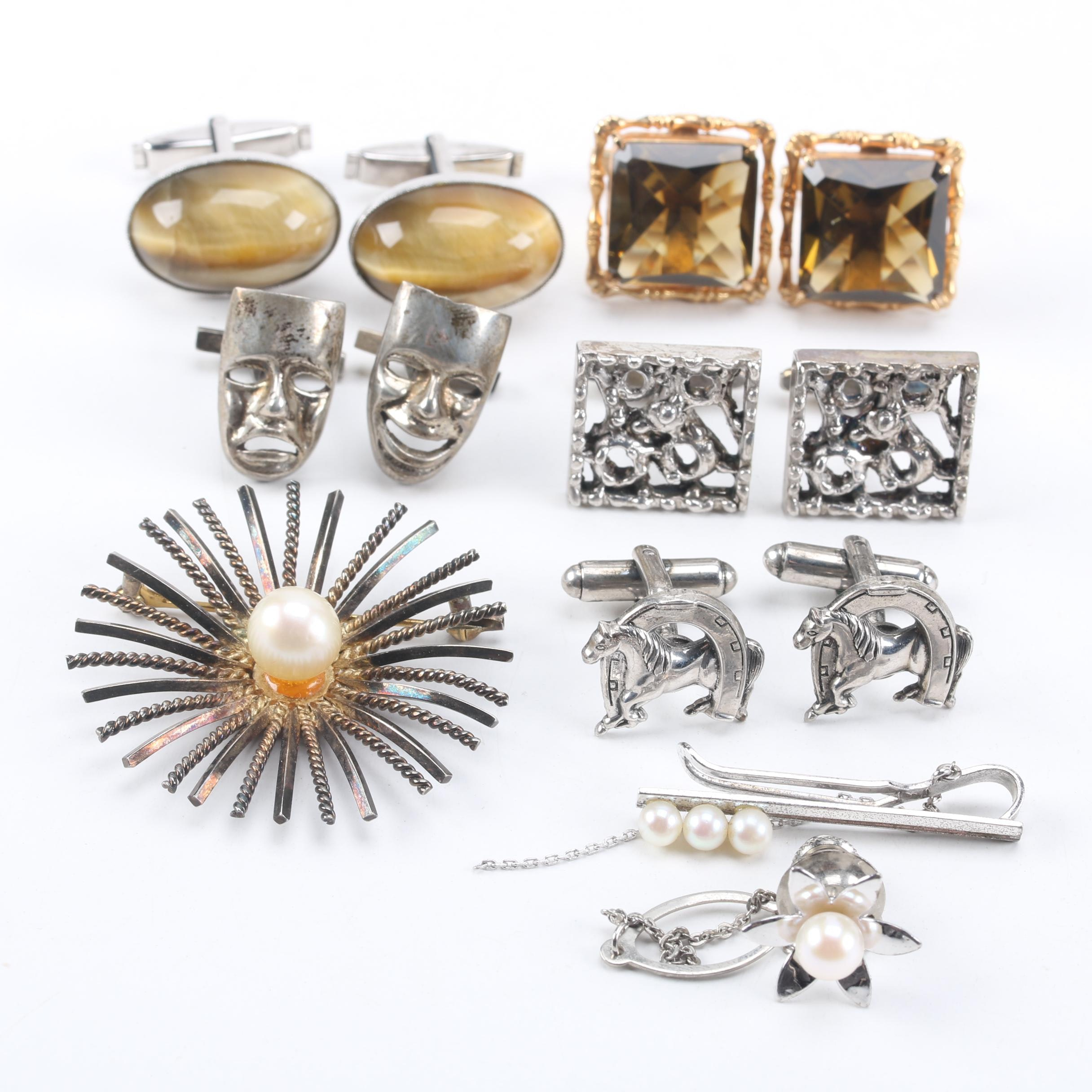 Assortment of Sterling Silver Jewelry Accessories