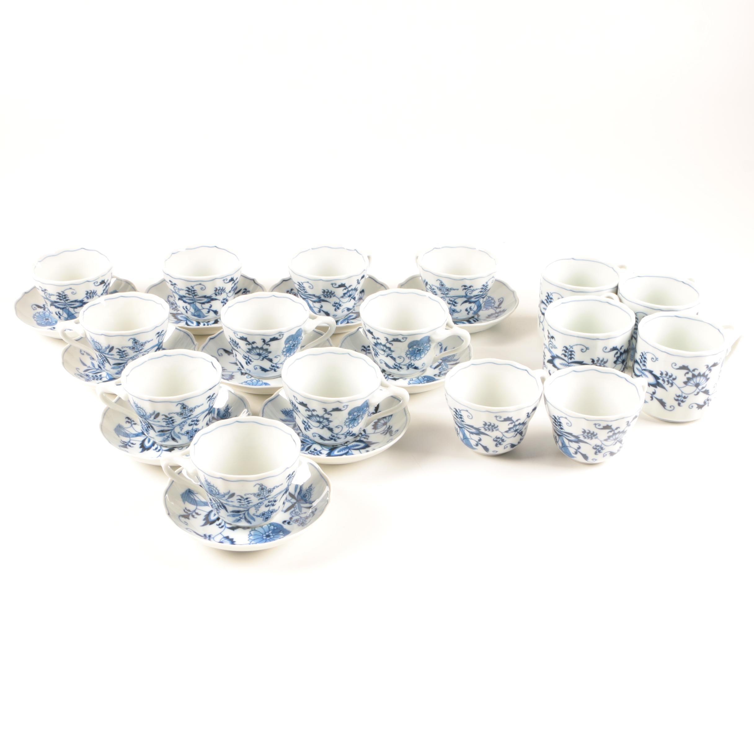 Blue Danube Porcelain Tea Cup Set