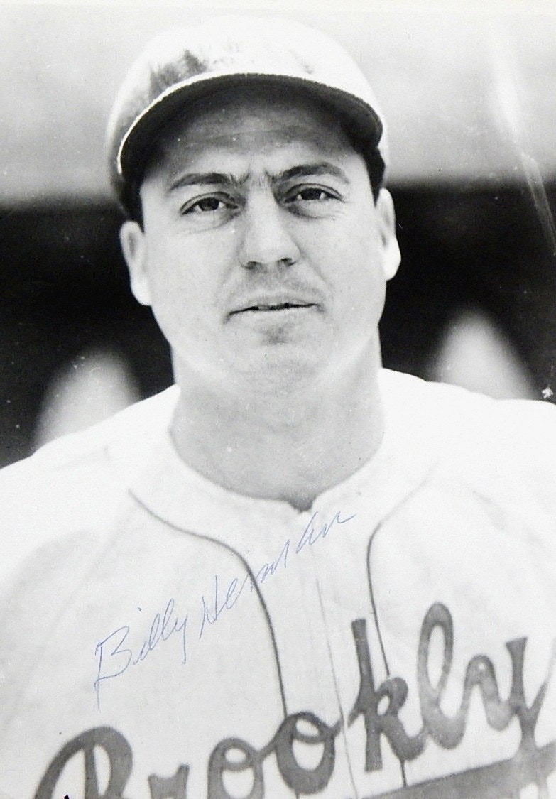 SCG Authenticated Signed Photograph Billy Herman