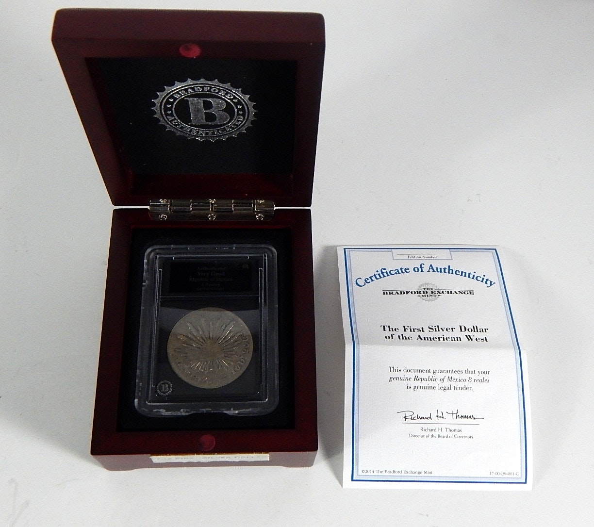 1877 First Silver Dollar of the American West from The Bradford Mint
