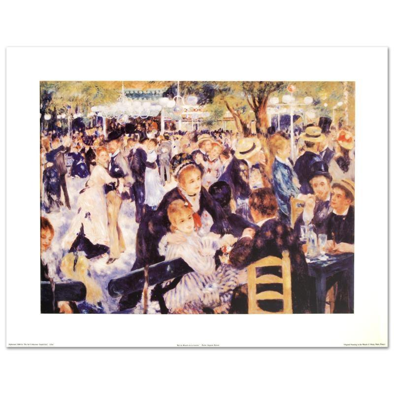 """Bal du Moulin de la Galette"" Fine Art Print by Renoir"