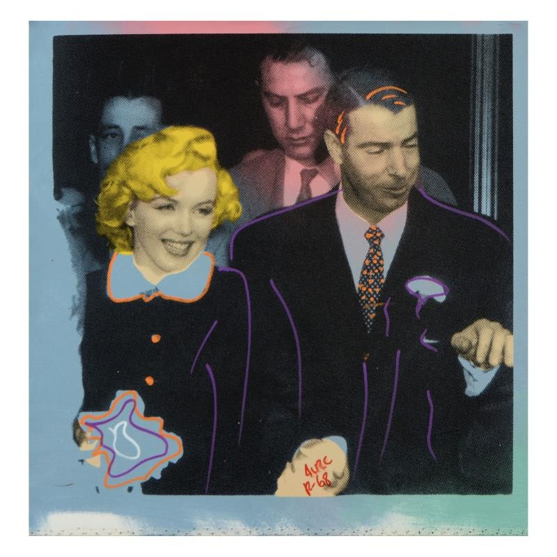 """""""Mr. and Mrs. DiMaggio"""" Mixed Media"""