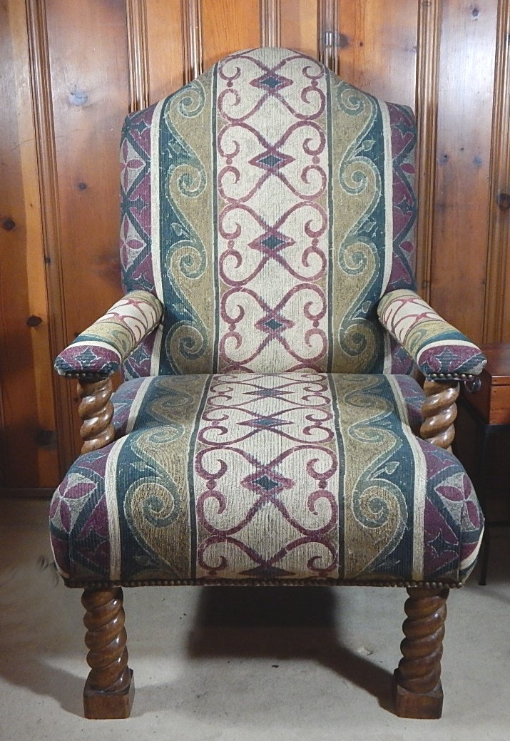 Paisley and Barley Twist Chair