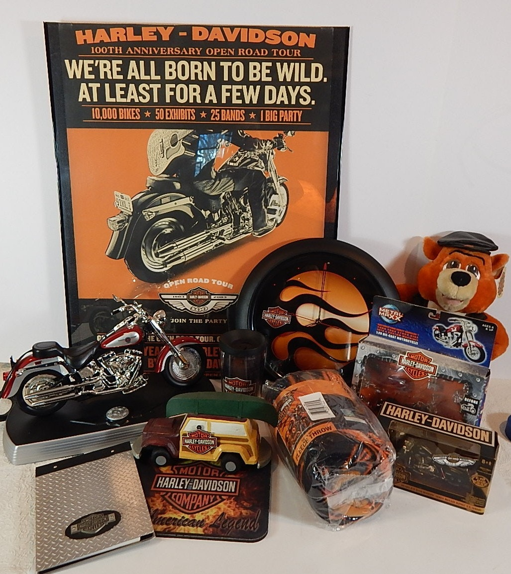 Harley-Davidson Home Decor with Clock, Fleece, and More