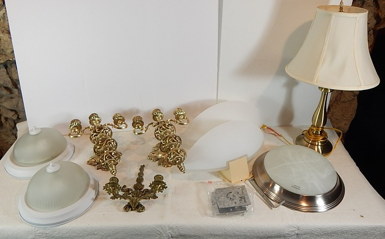 Lighting Fixtures, Sconces, and Lamp