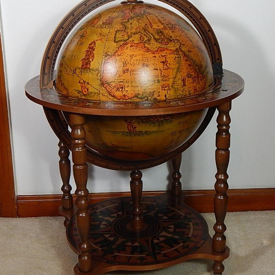 Replica Old World Decorative Globe Bar