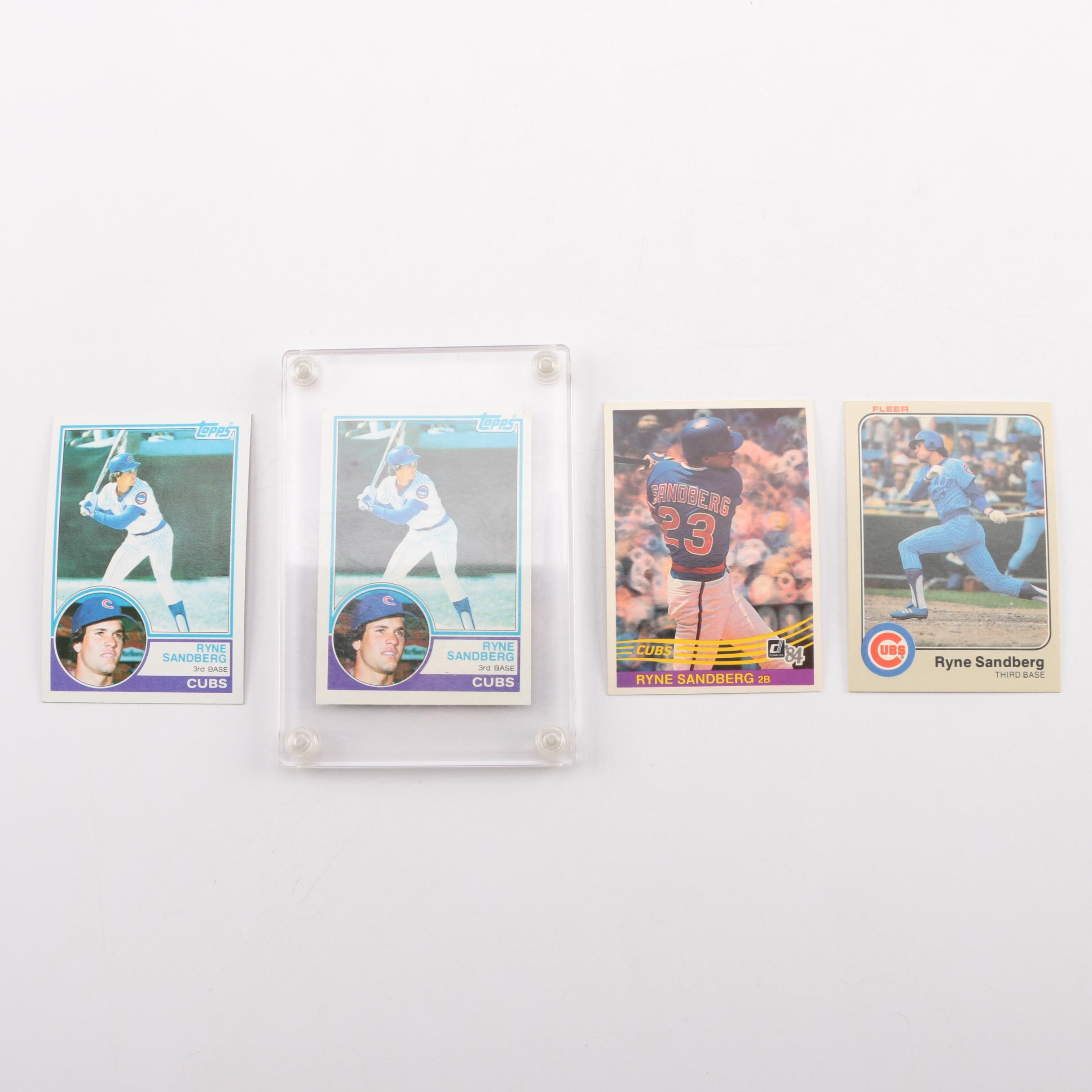 Collection of Ryne Sandberg Baseball Trading Cards