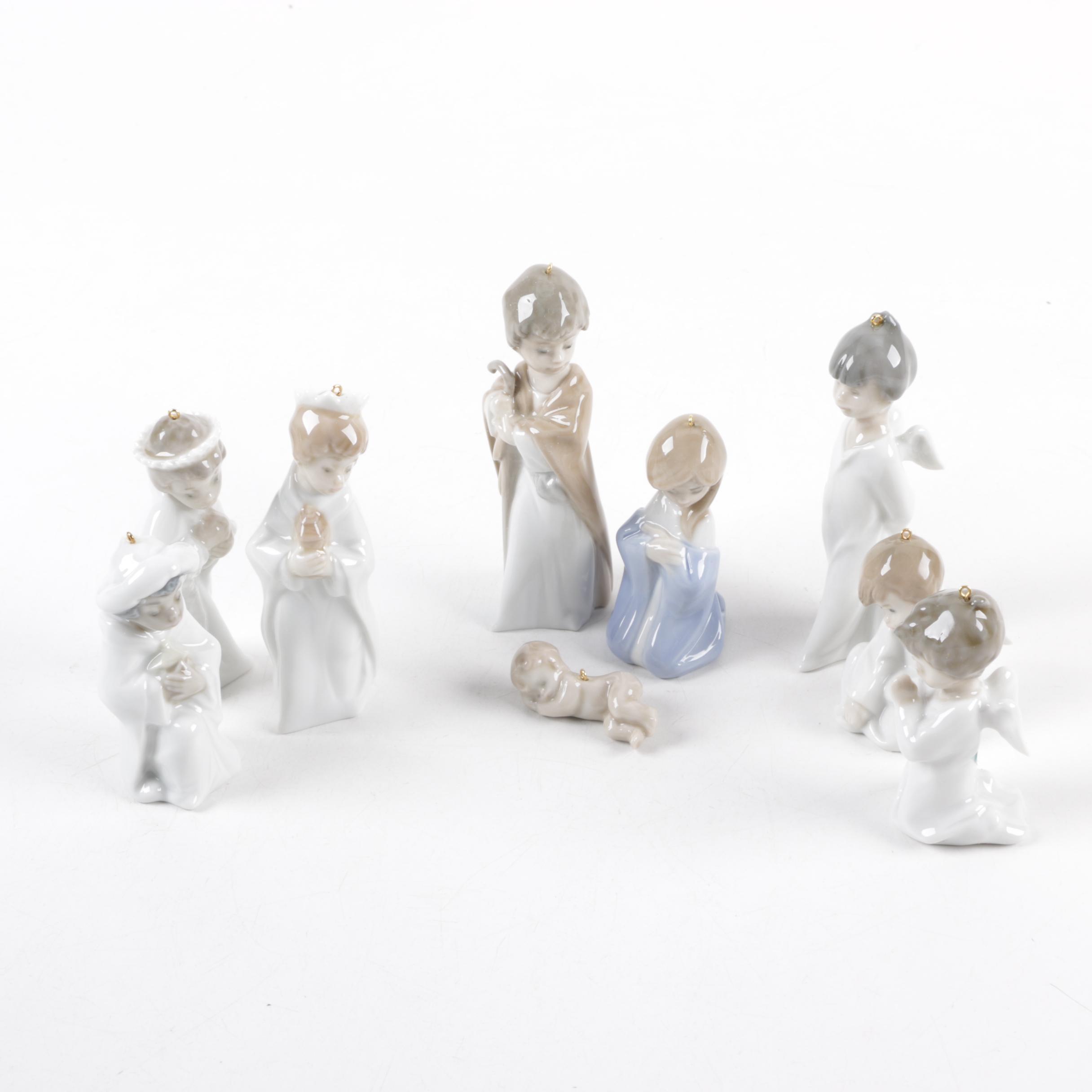 Lladro Holiday Nativity Ornaments