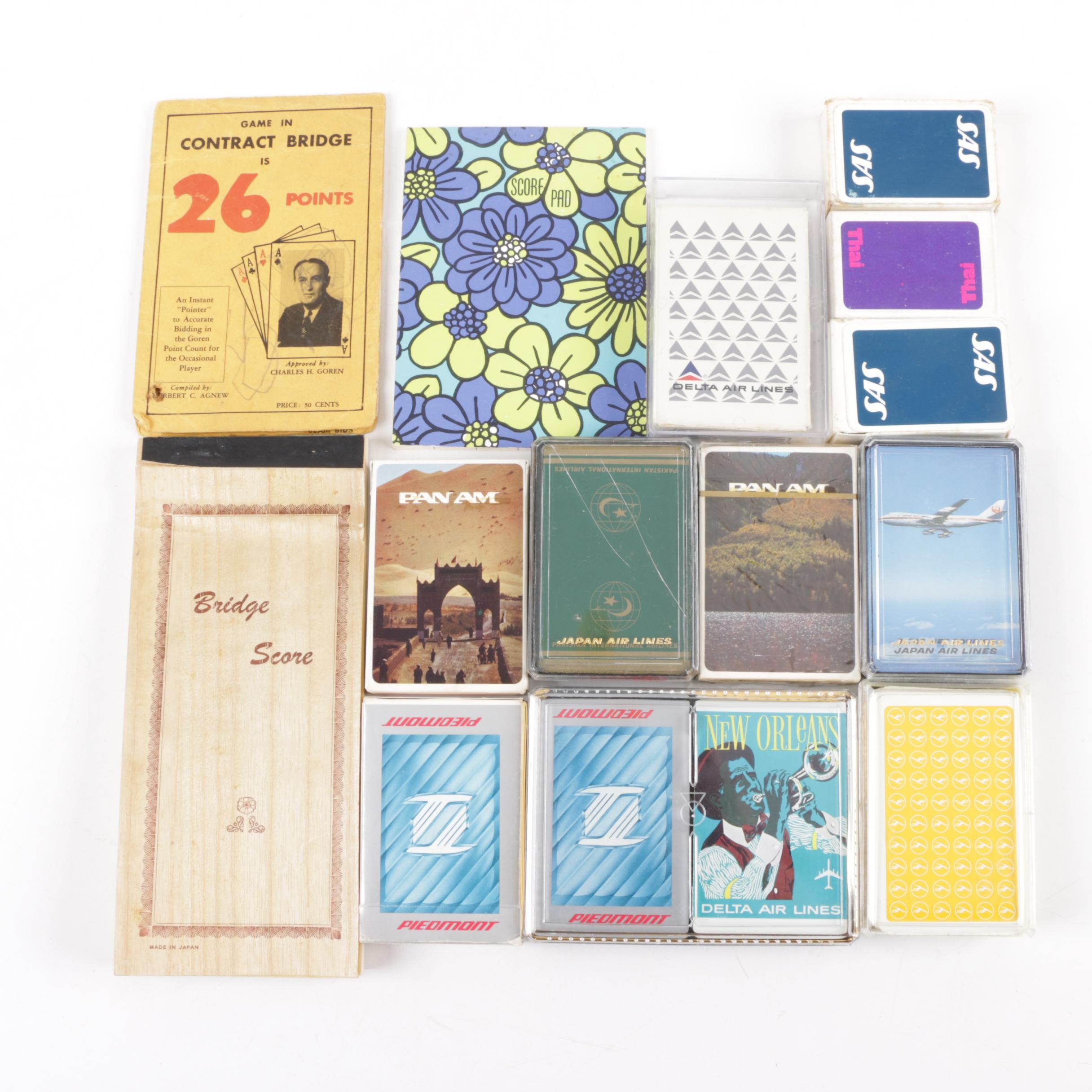 Assorted Airline Playing Cards