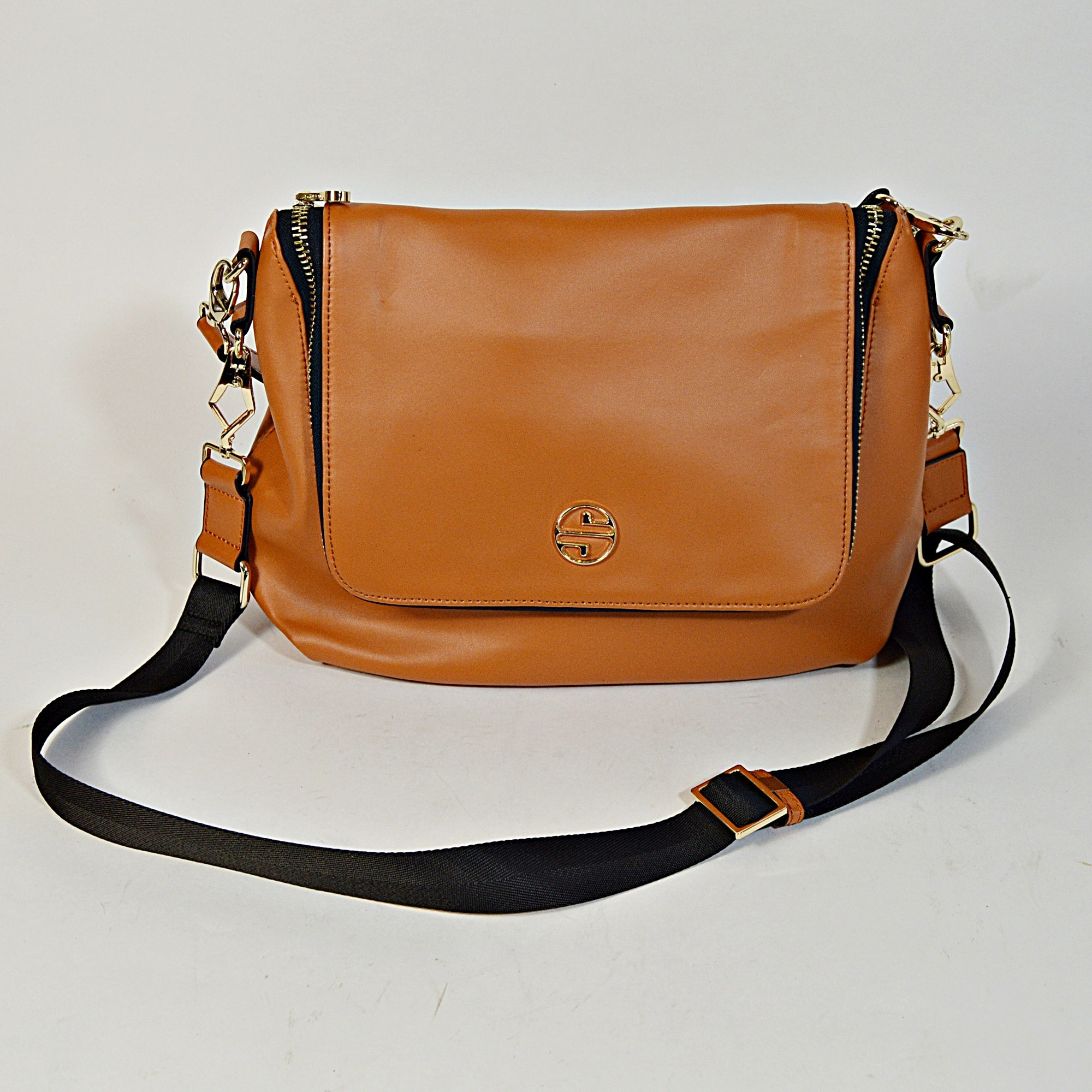 Segolene en Cuir Leather Handbag, New-with-Tags