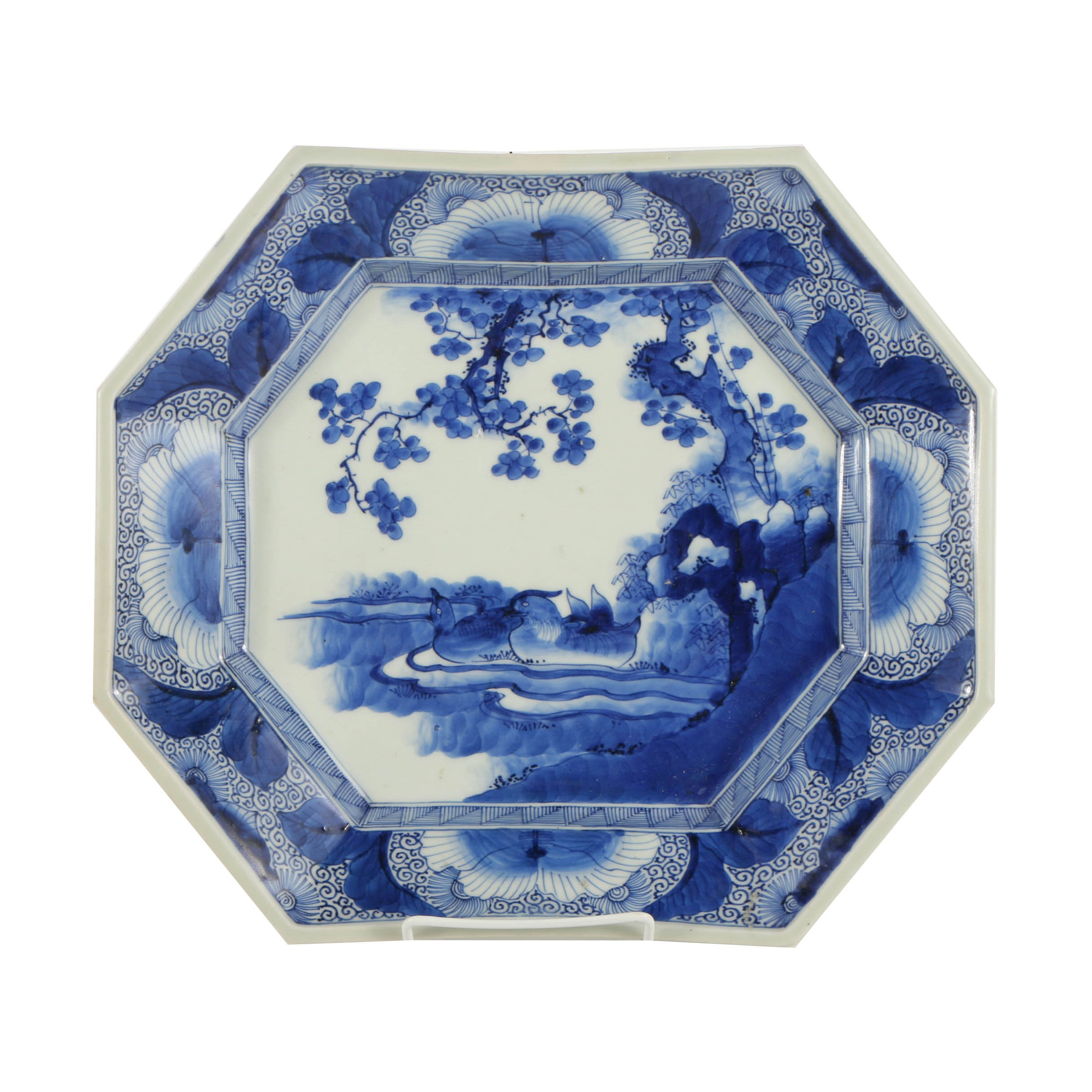 Early Meiji Period Platter Blue and White Platter