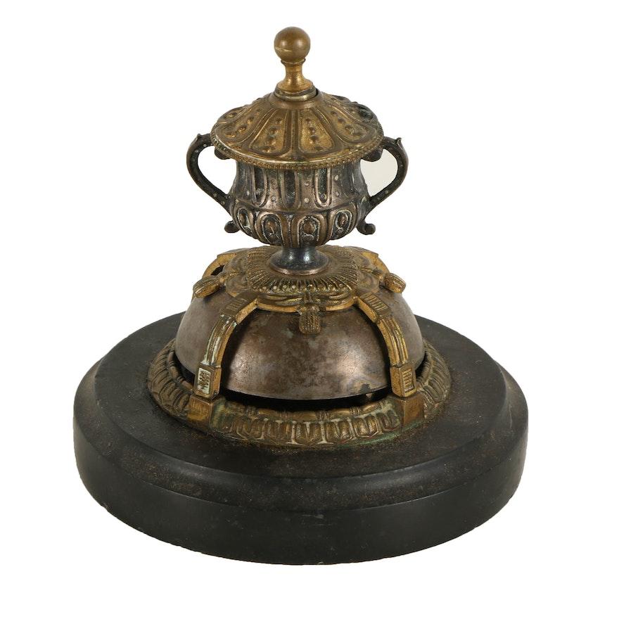 Ornate Brass Service Desk Bell ... - Ornate Brass Service Desk Bell : EBTH