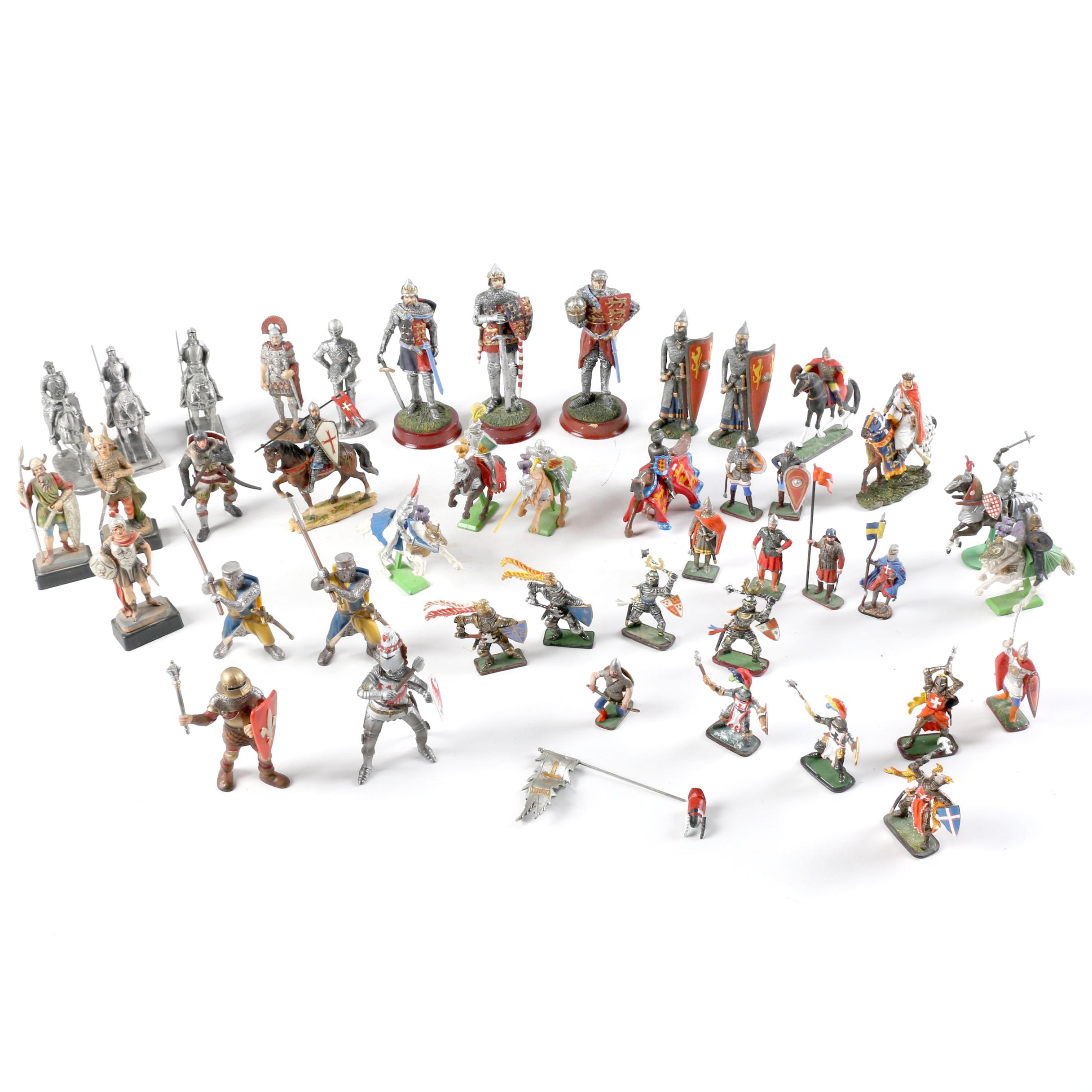 Collection of Miniature Knights and Warriors