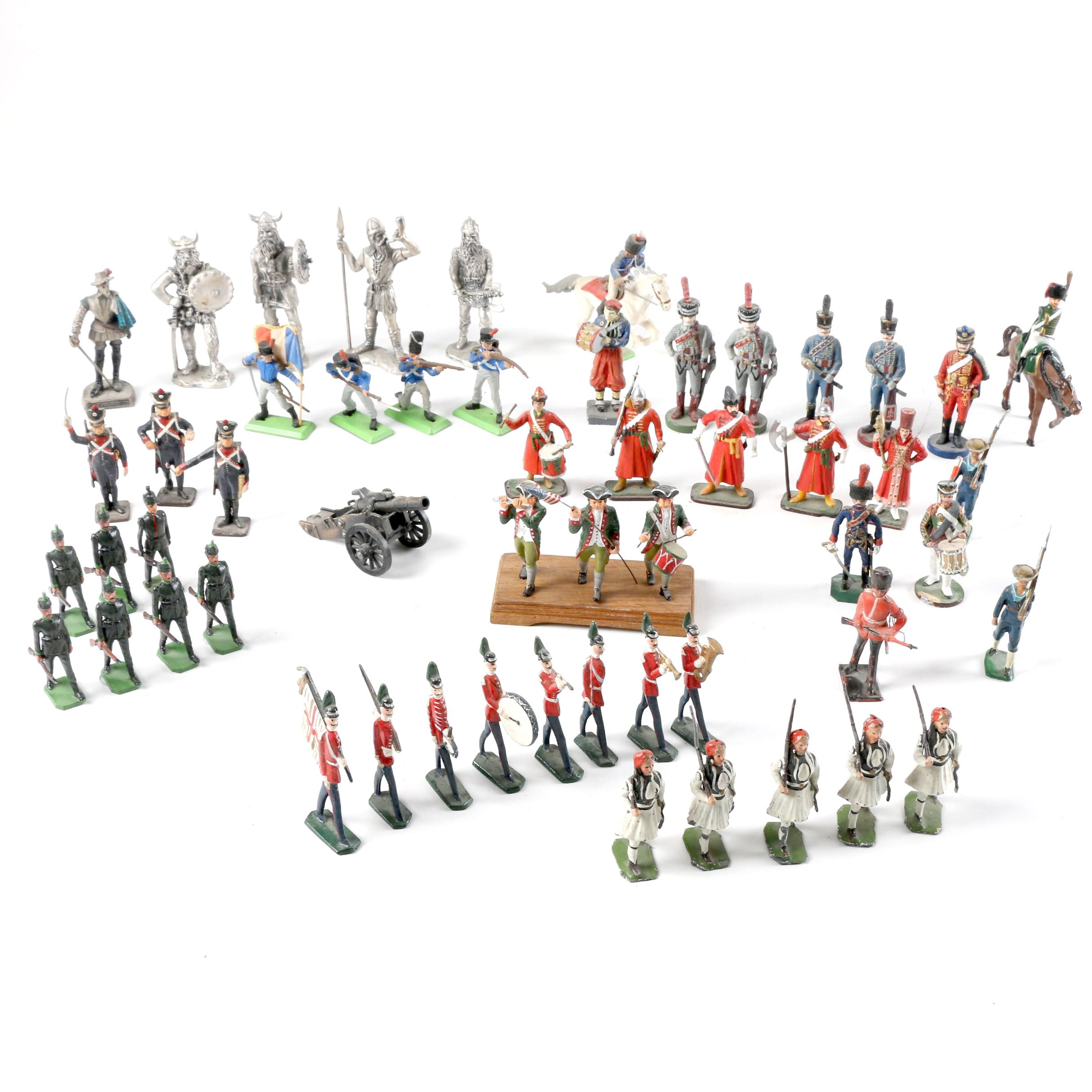 World Military Metal Figurines and Toy Soldiers