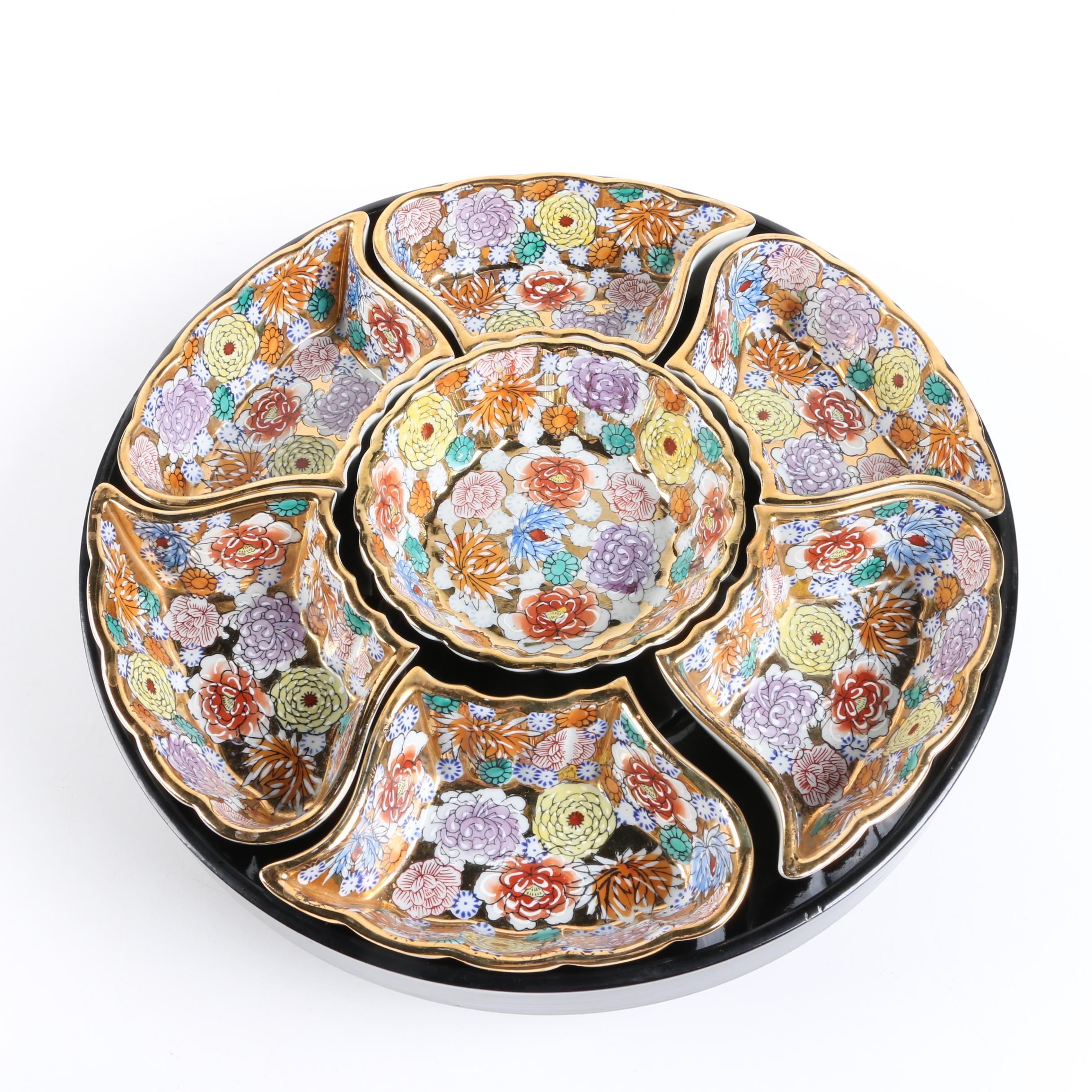 Asian Porcelain Sweetmeat Tray