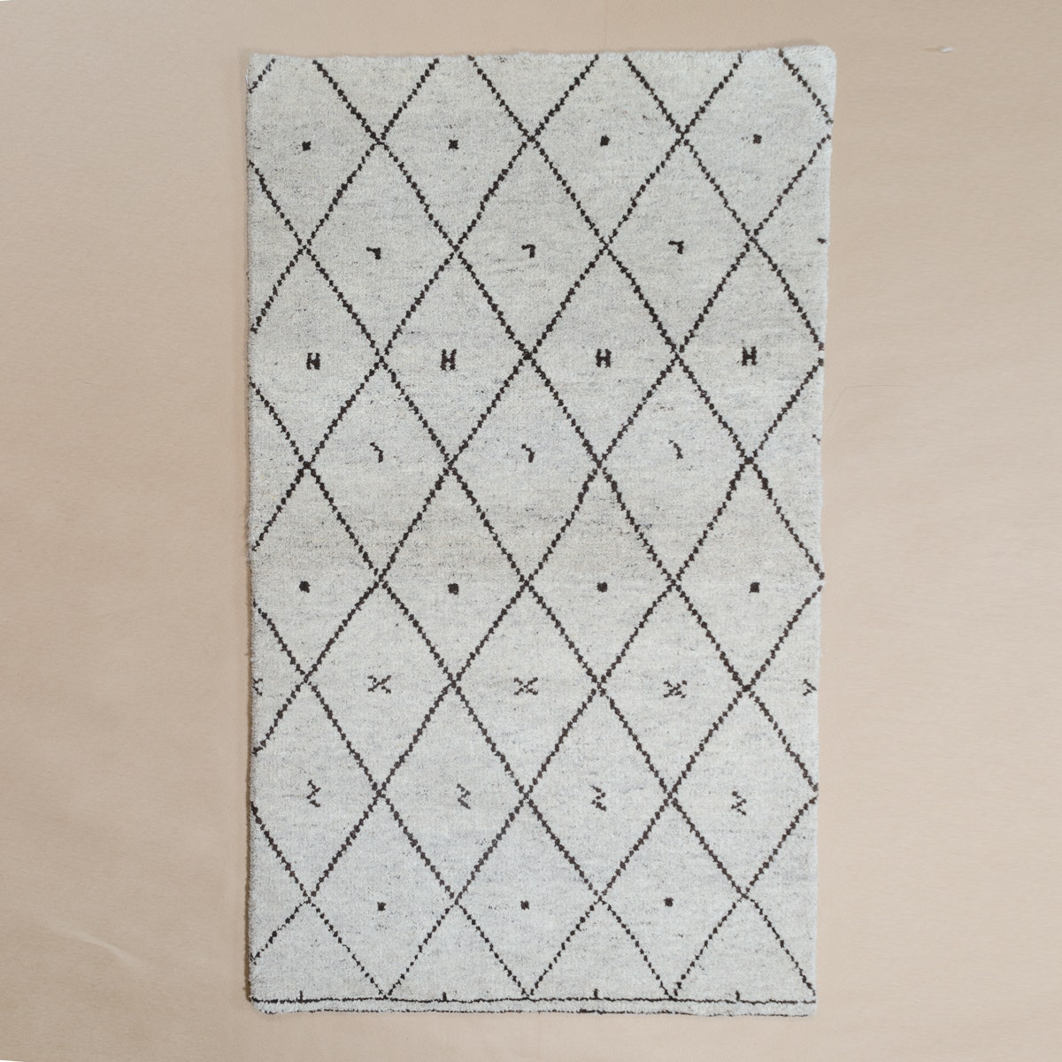 Hand-Knotted Moroccan-Style Area Rug