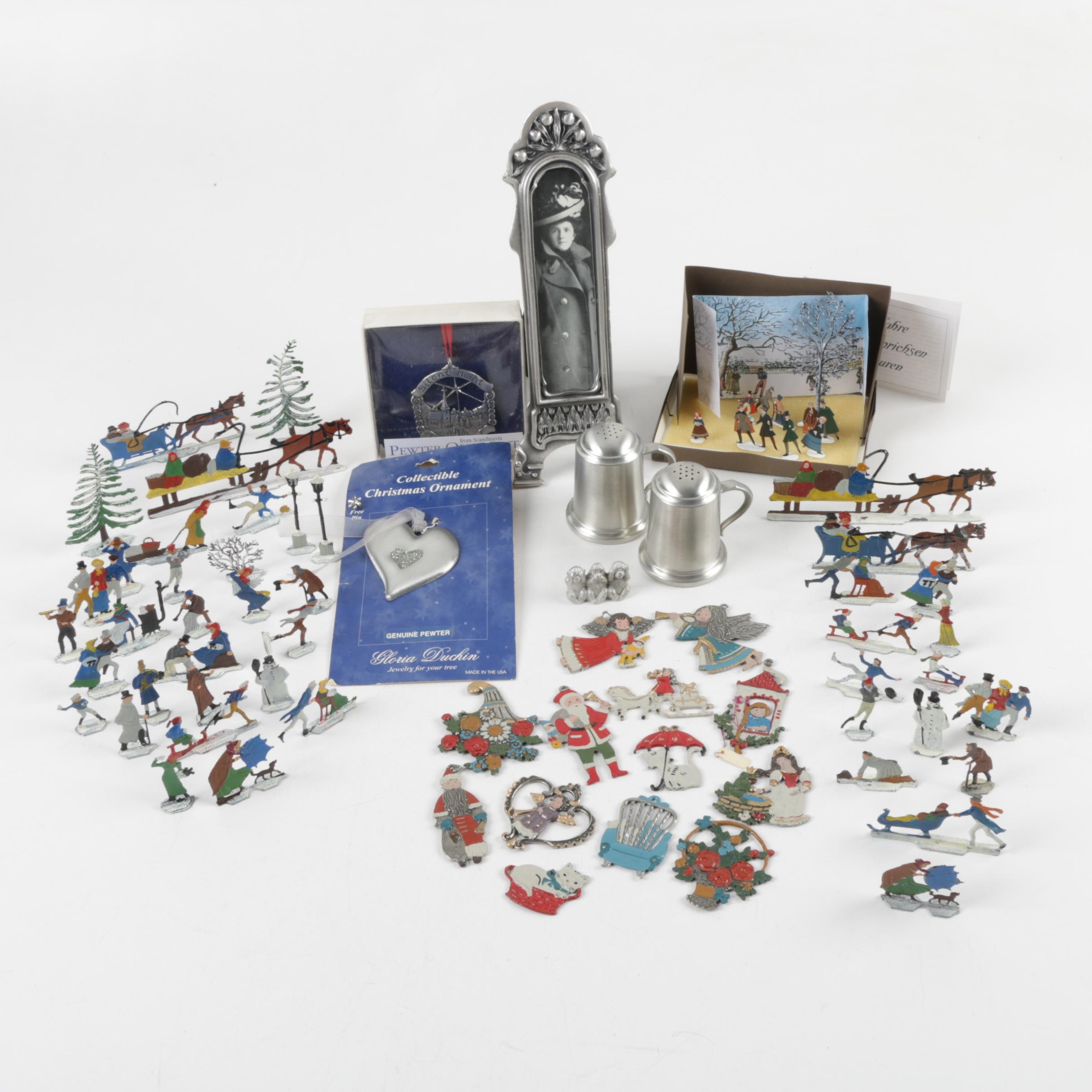 Pewter Ornaments and Decor Assortment