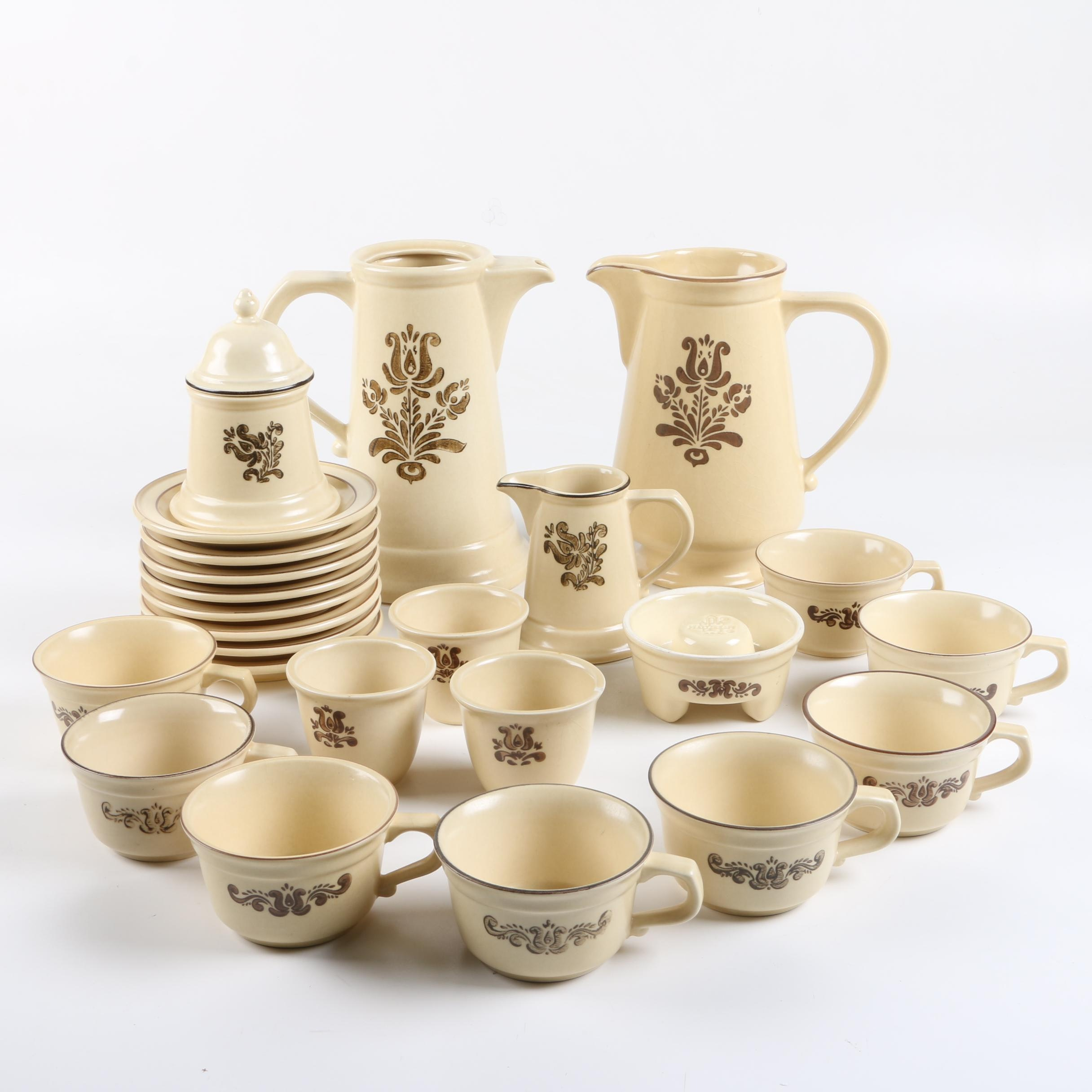 "Pfaltzgraff ""Village"" Stoneware Tea and Coffee Service"