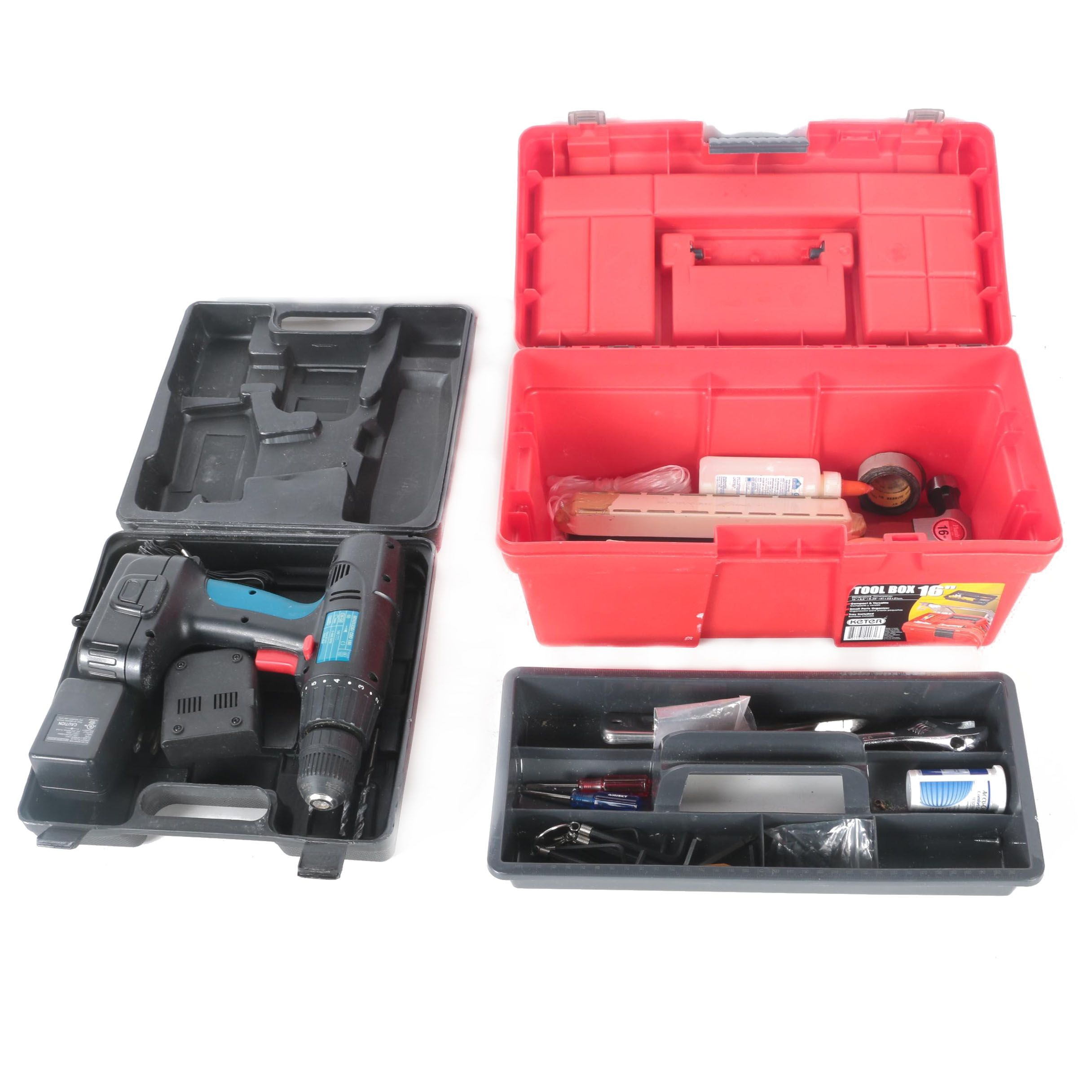 Toolbox and Power Glide Drill