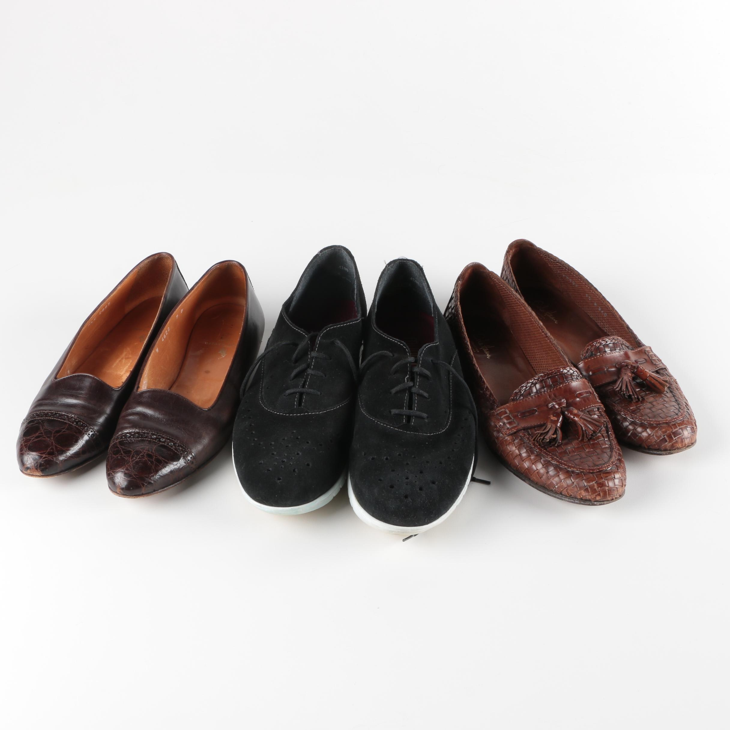 Two Pairs of Women's Loafers and Suede Sport Sneakers