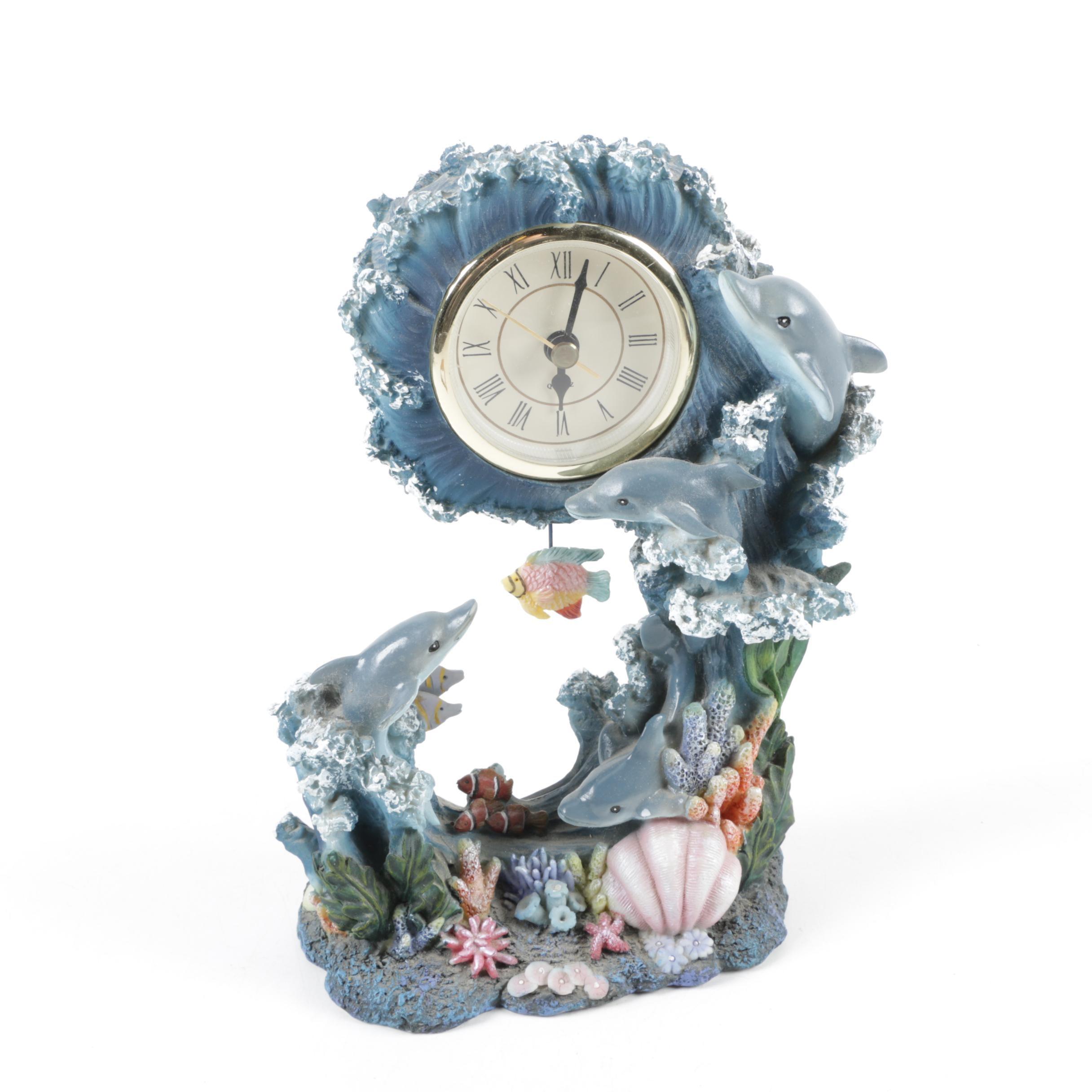 Dolphin Themed Shelf Clock