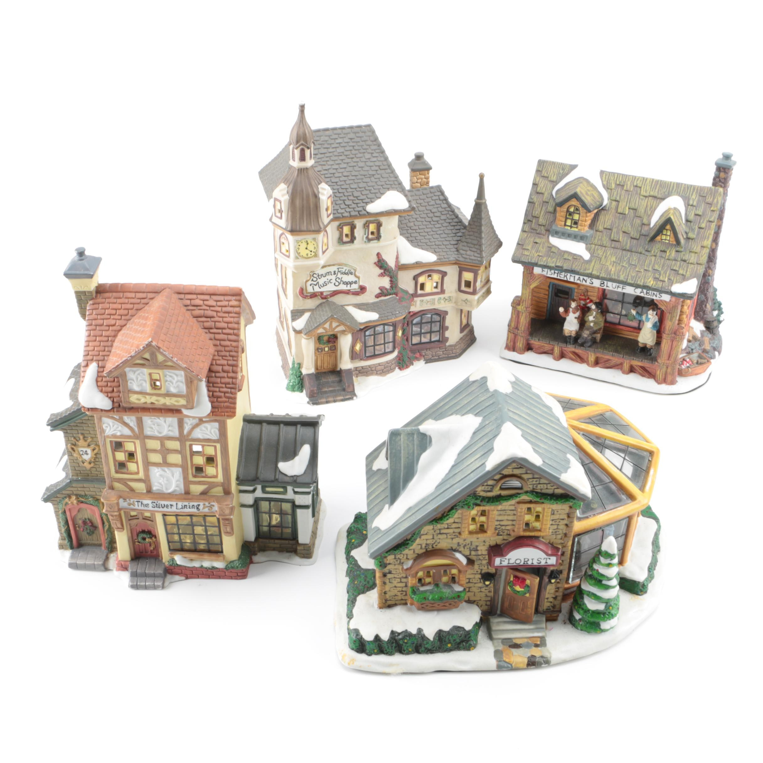 """Santa's Workbench Collection"" Ceramic Christmas Village"