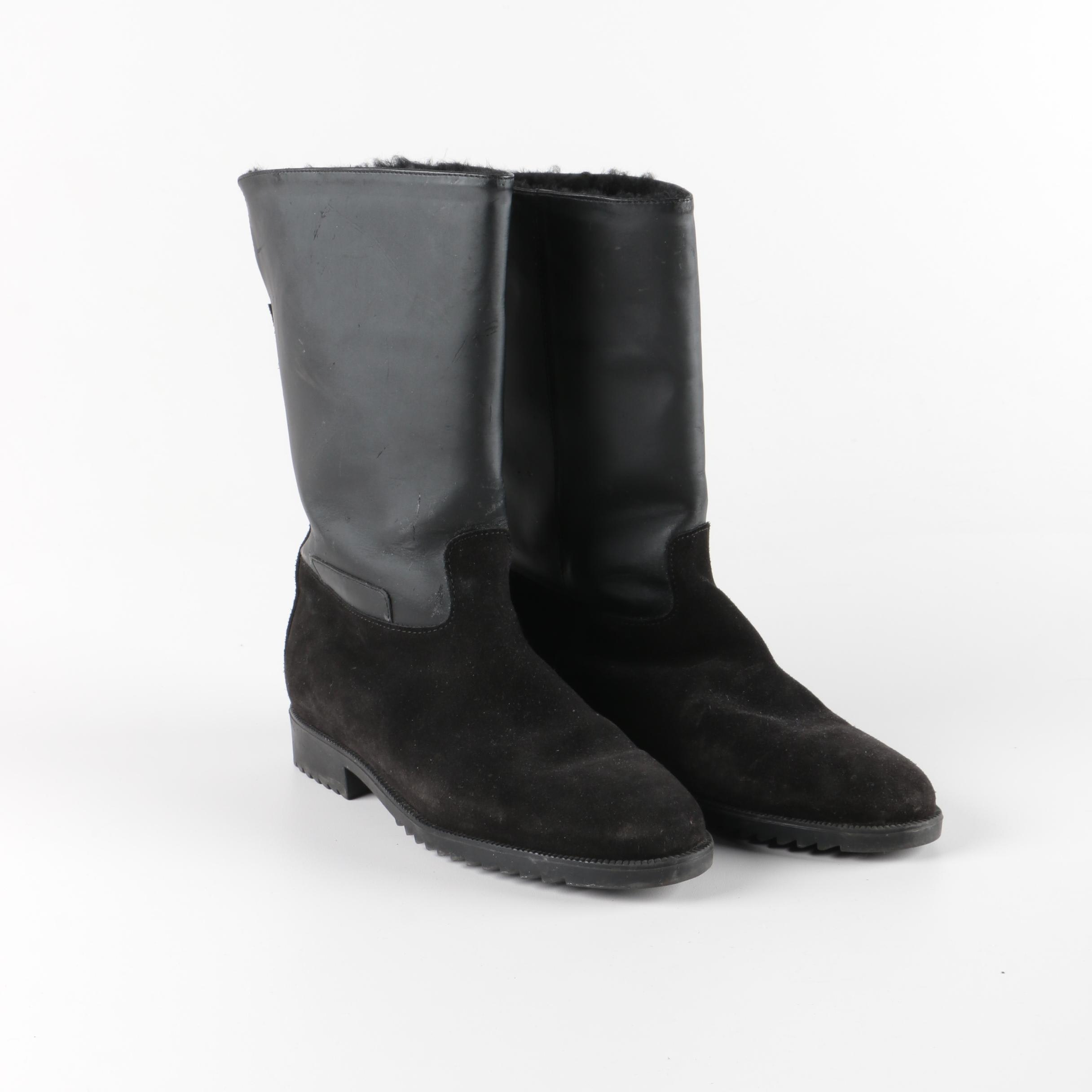 Women's Galo Black Suede and Leather Boots