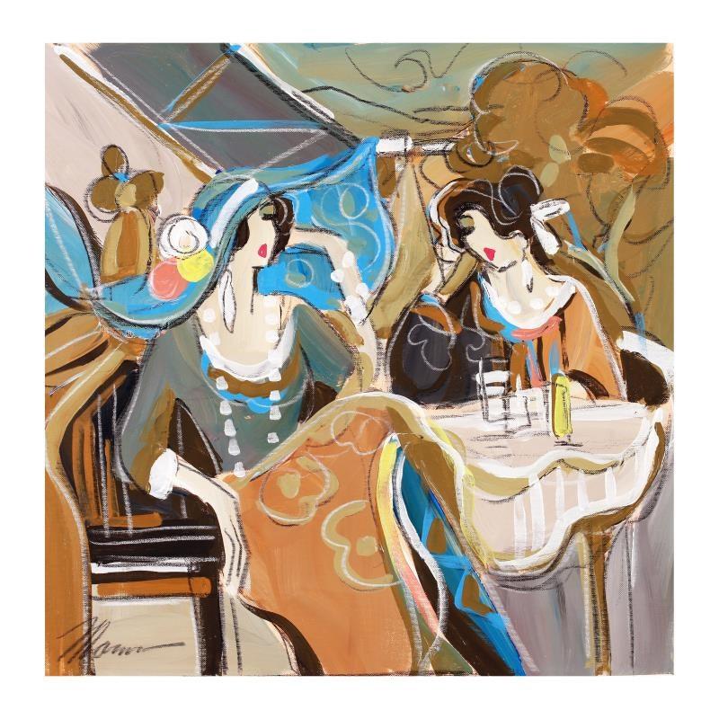 """Cocktail Lounge"" Original Acrylic Painting"