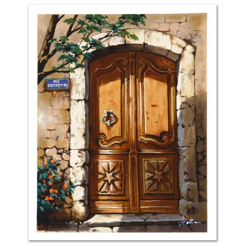 """""""Rue Mouffetard"""" Limited Edition Lithograph by Anatoly Metlan"""