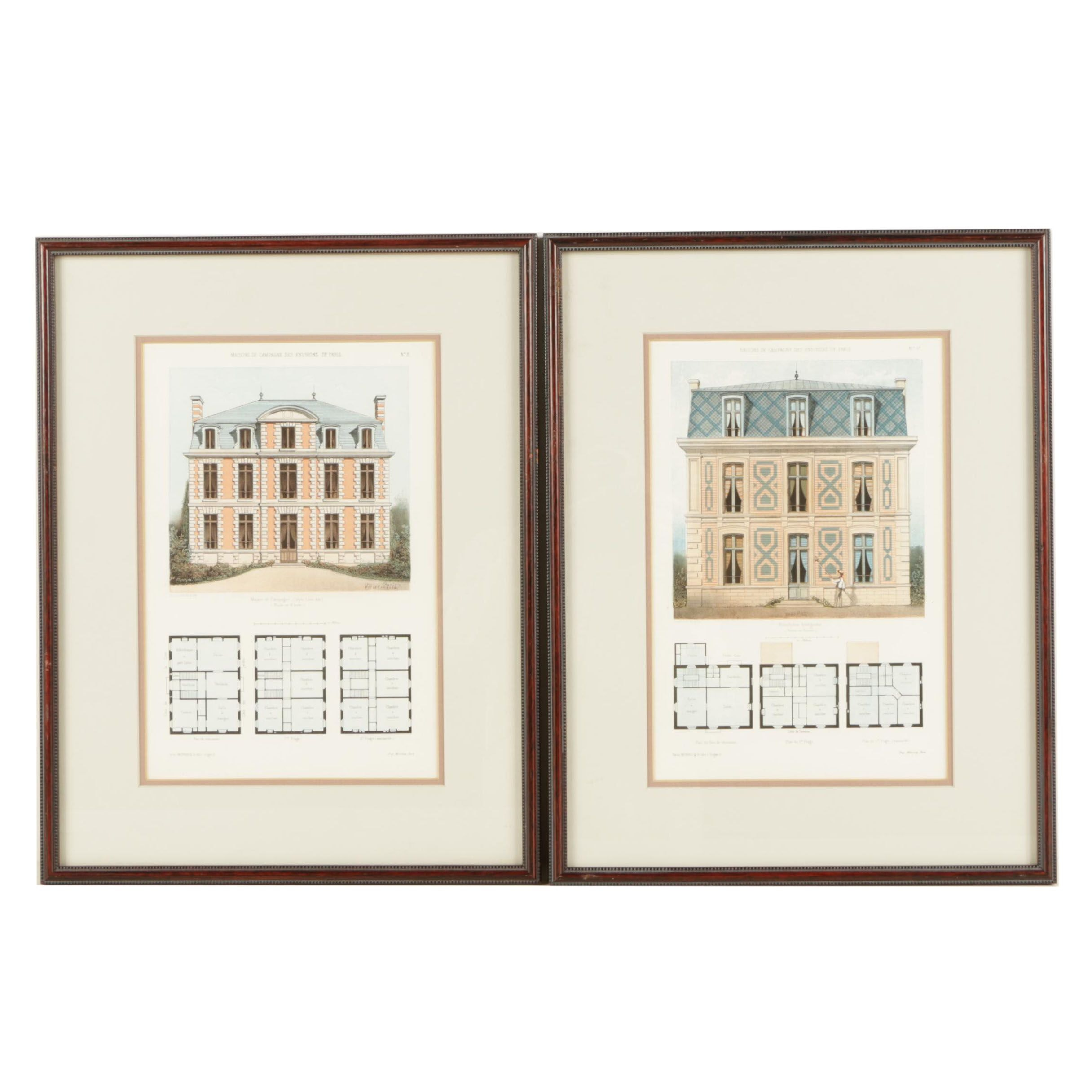 Pair of Lithographs on Paper After Victor Petit