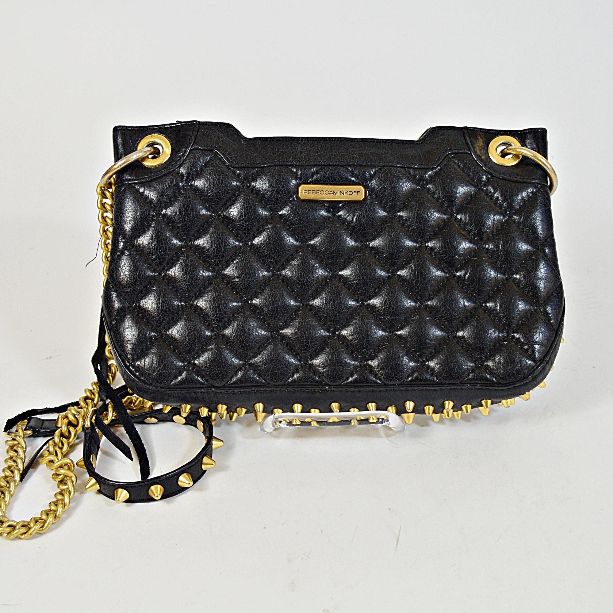 Rebecca Minkoff Quilted Black Leather Handbag