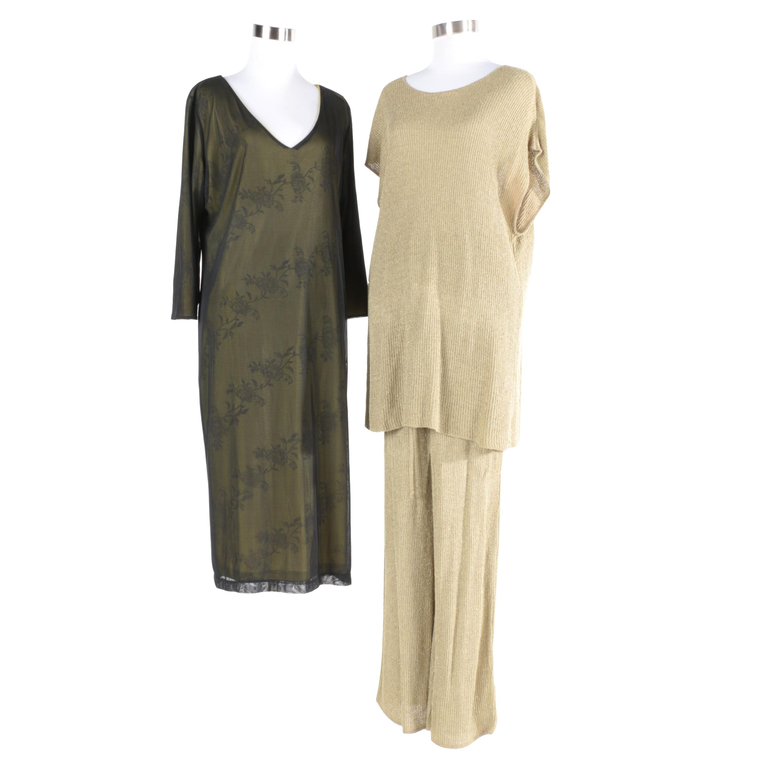 Women's BCBG Dress with Knitted Top and Skirt