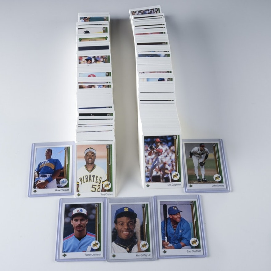 1989 Upper Deck Baseball Cards Complete Set Including Griffey Rookie Card